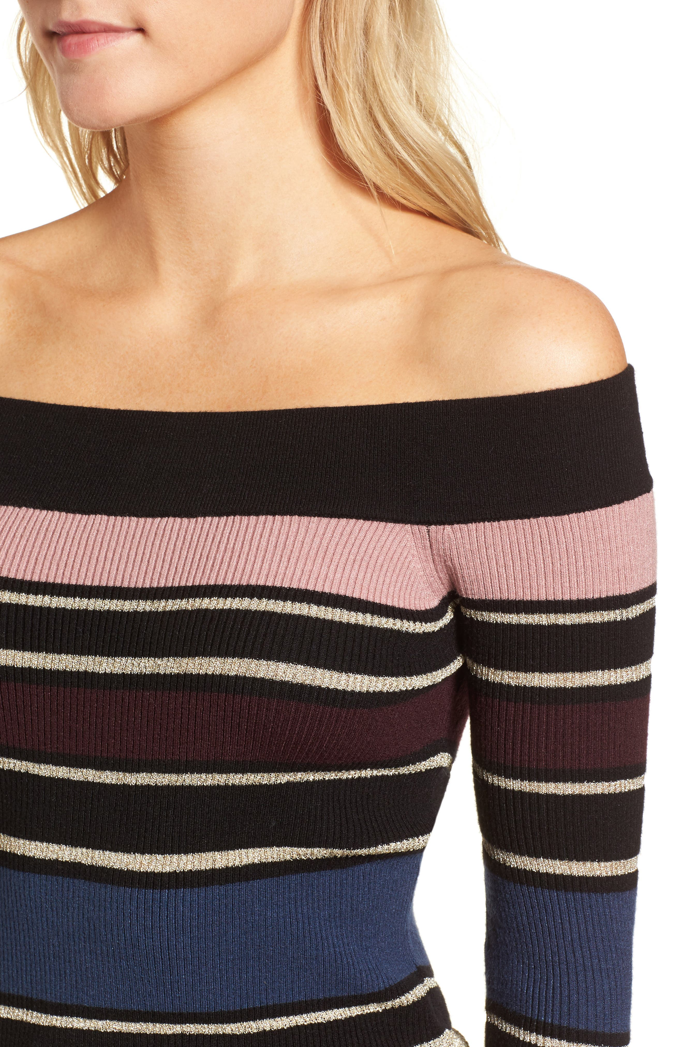 Alternate Image 4  - cupcakes and cashmere Nadria Off the Shoulder Sweater