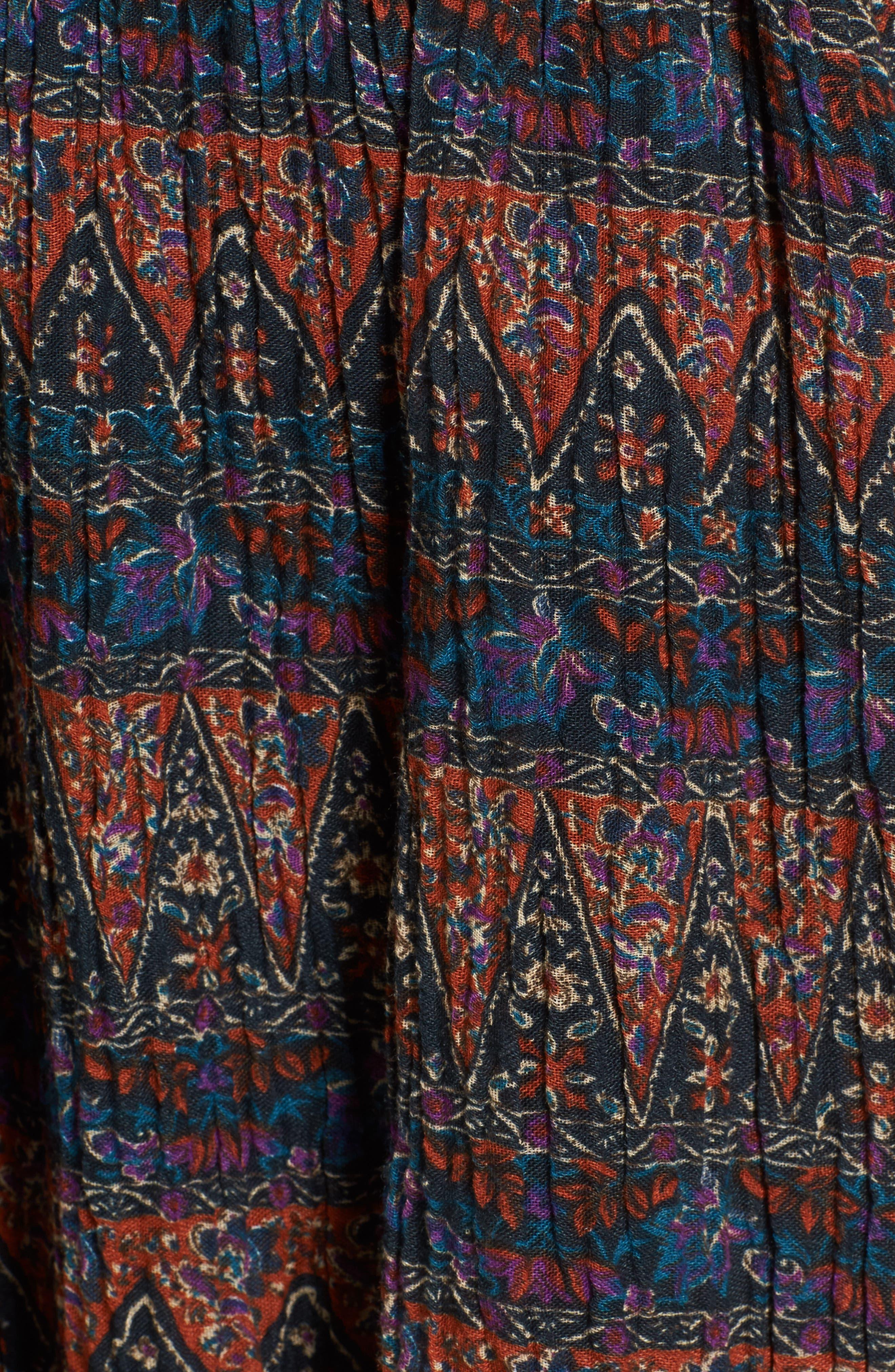 Bali Halter Dress,                             Alternate thumbnail 5, color,                             Dark Multi