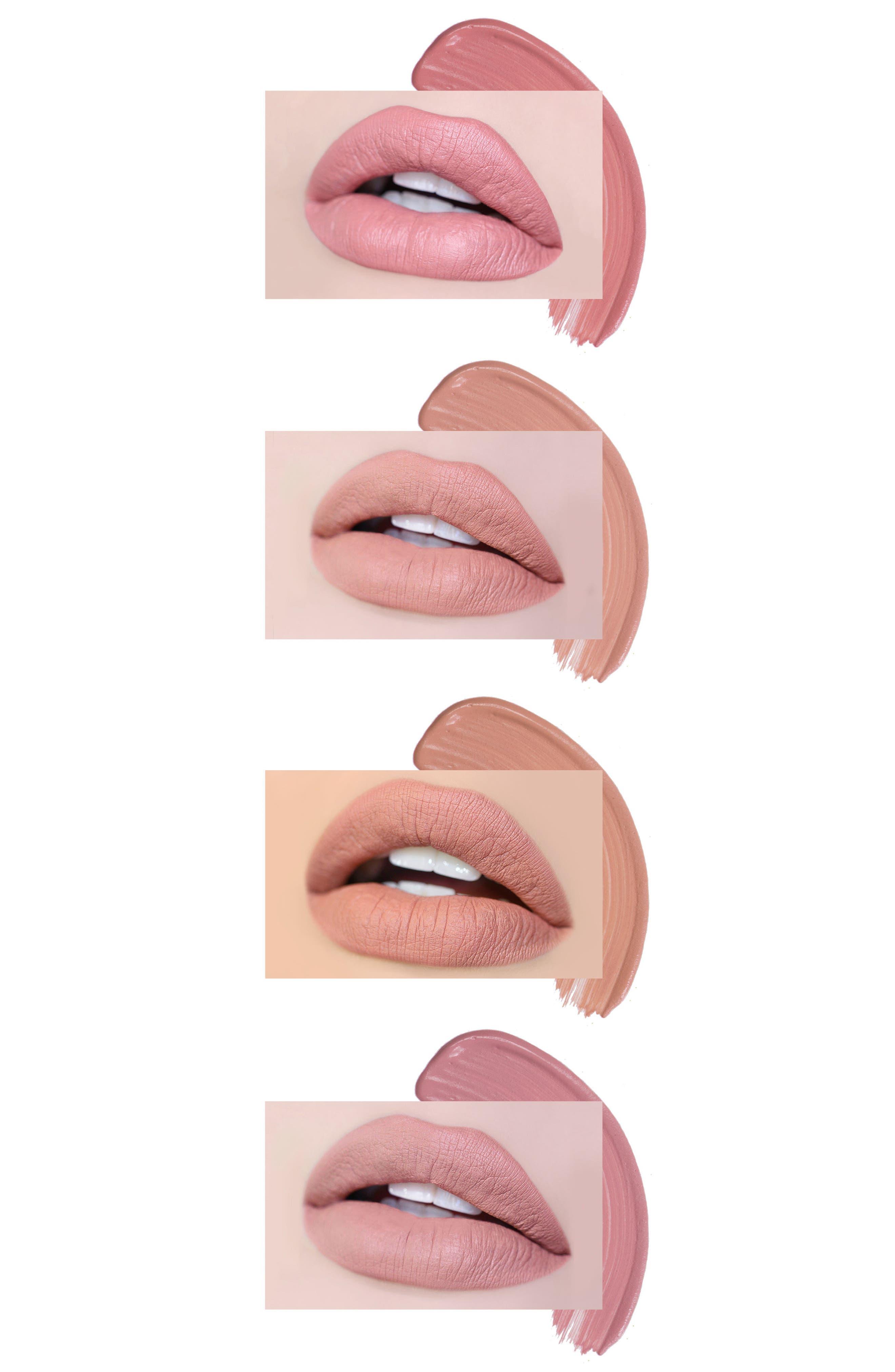 Best of Nudes Mini Long-Wear Lip Crème Liquid Lipstick Collection,                             Alternate thumbnail 3, color,                             No Color