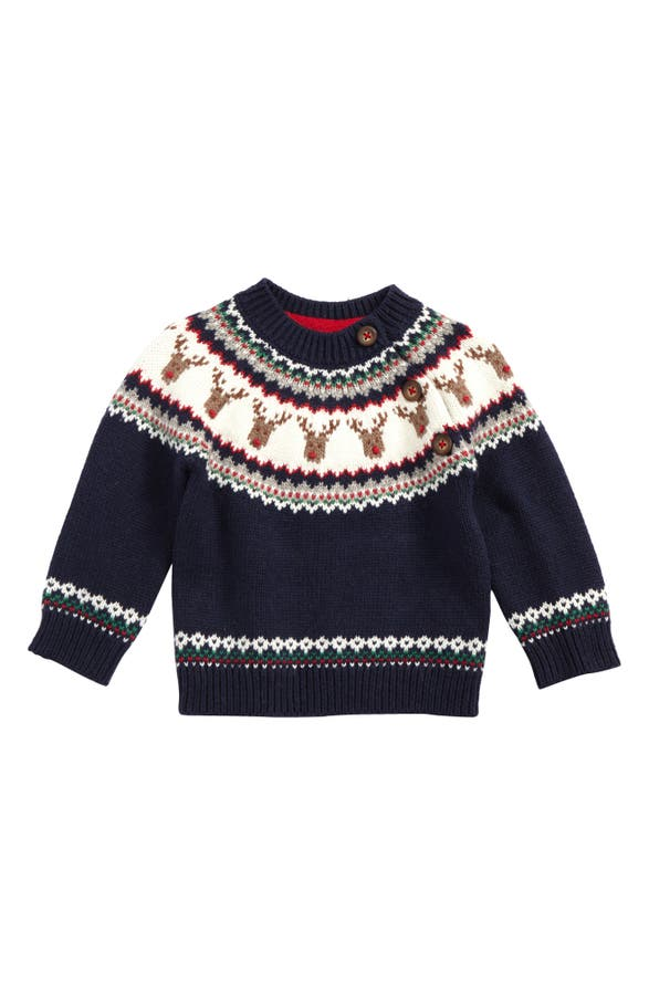 Mini Boden Fair Isle Sweater (Baby Boys & Toddler Boys) | Nordstrom