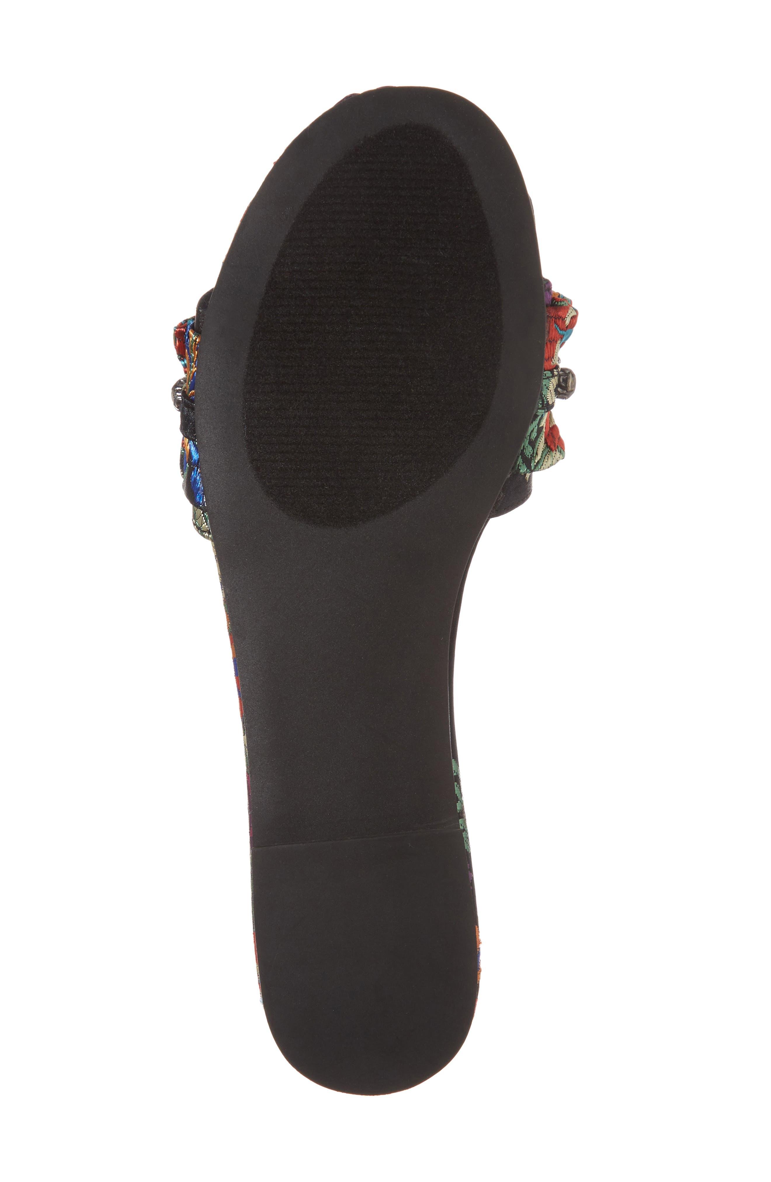Pomona Crystal Embellished Slide Sandal,                             Alternate thumbnail 6, color,                             Black Multi