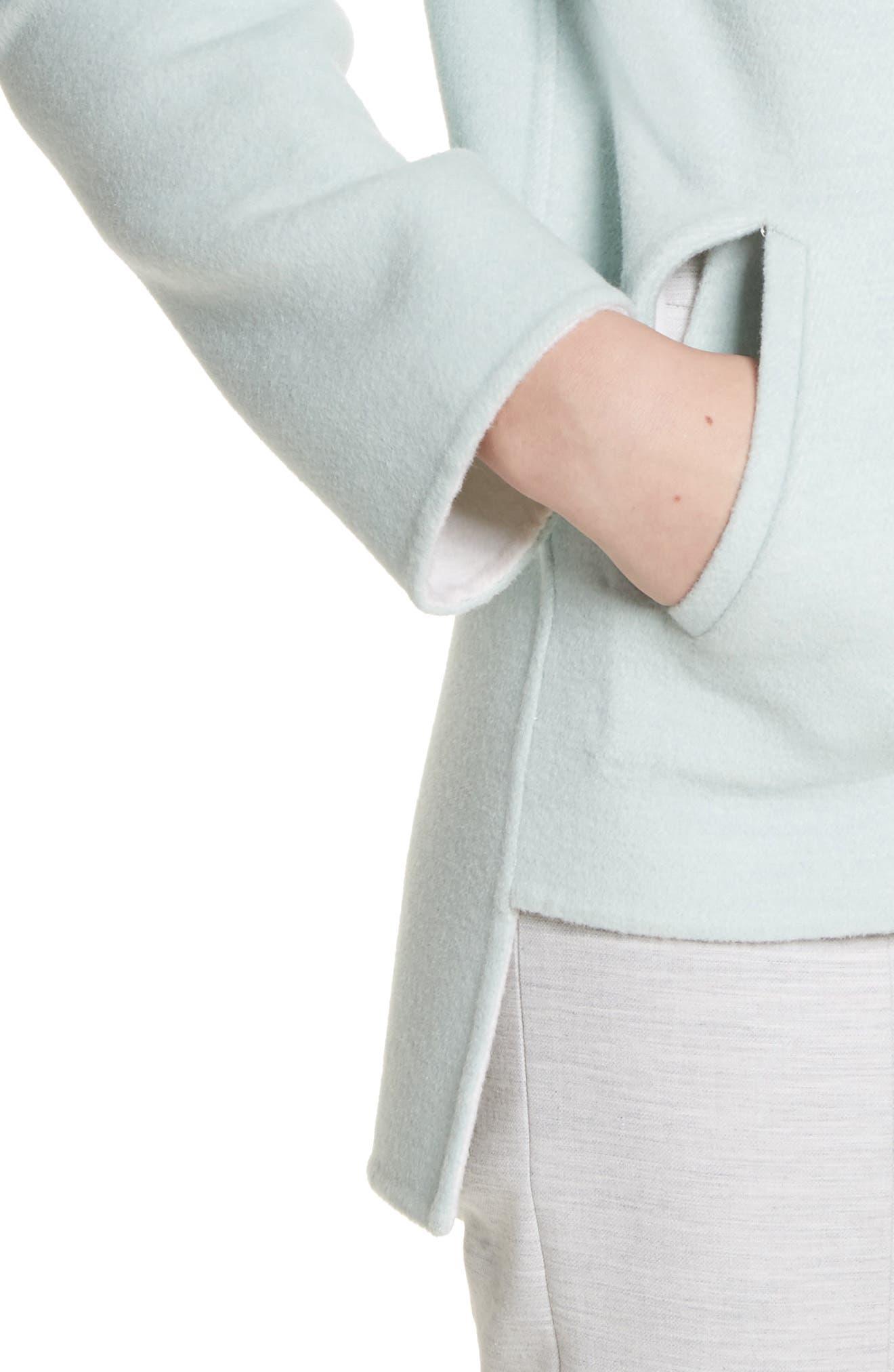 Reversible Wool & Angora Blend Sweatshirt,                             Alternate thumbnail 5, color,                             Mint/ Frost
