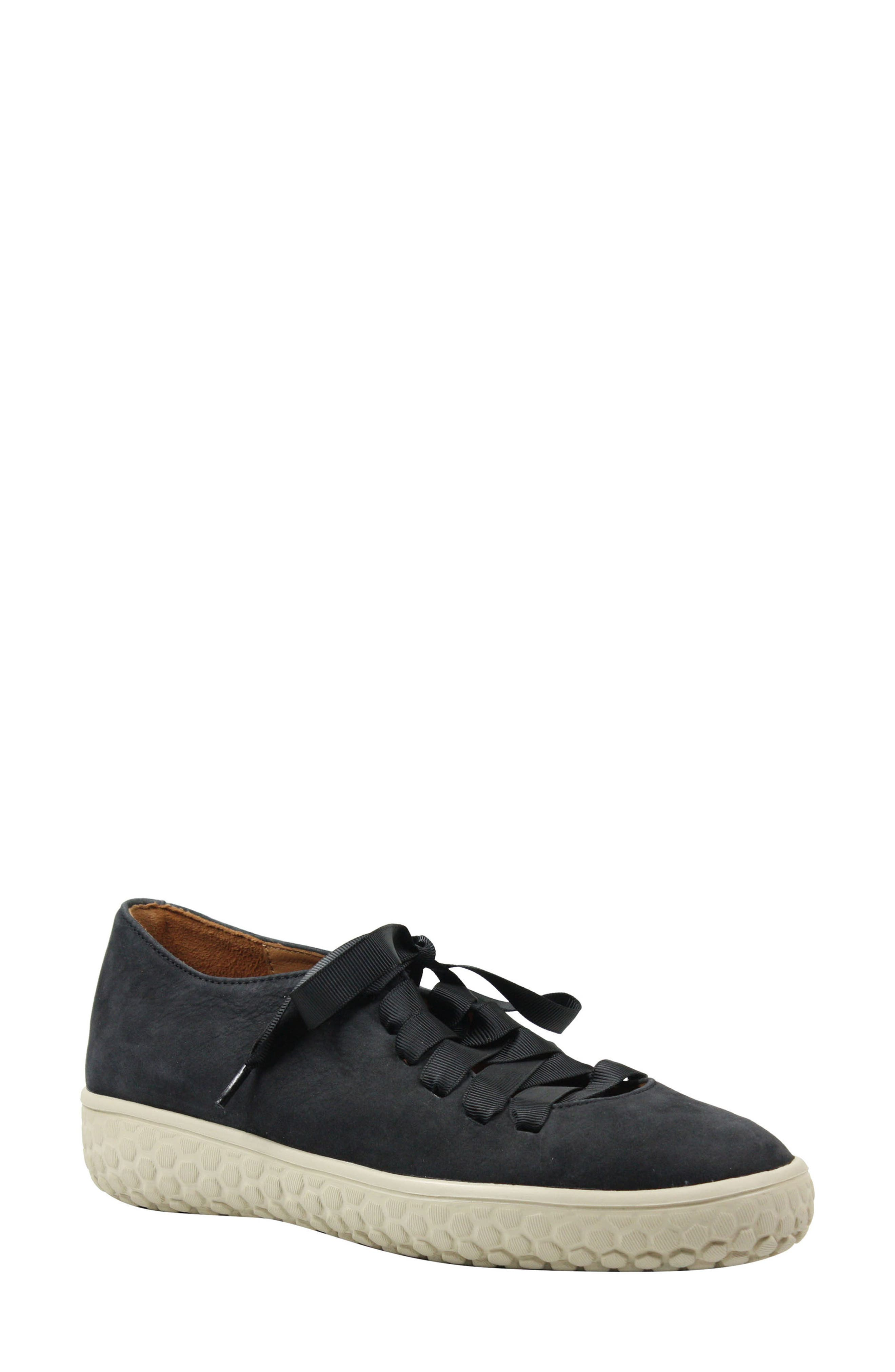 Zaheera Sneaker,                         Main,                         color, Black Nubuck Leather