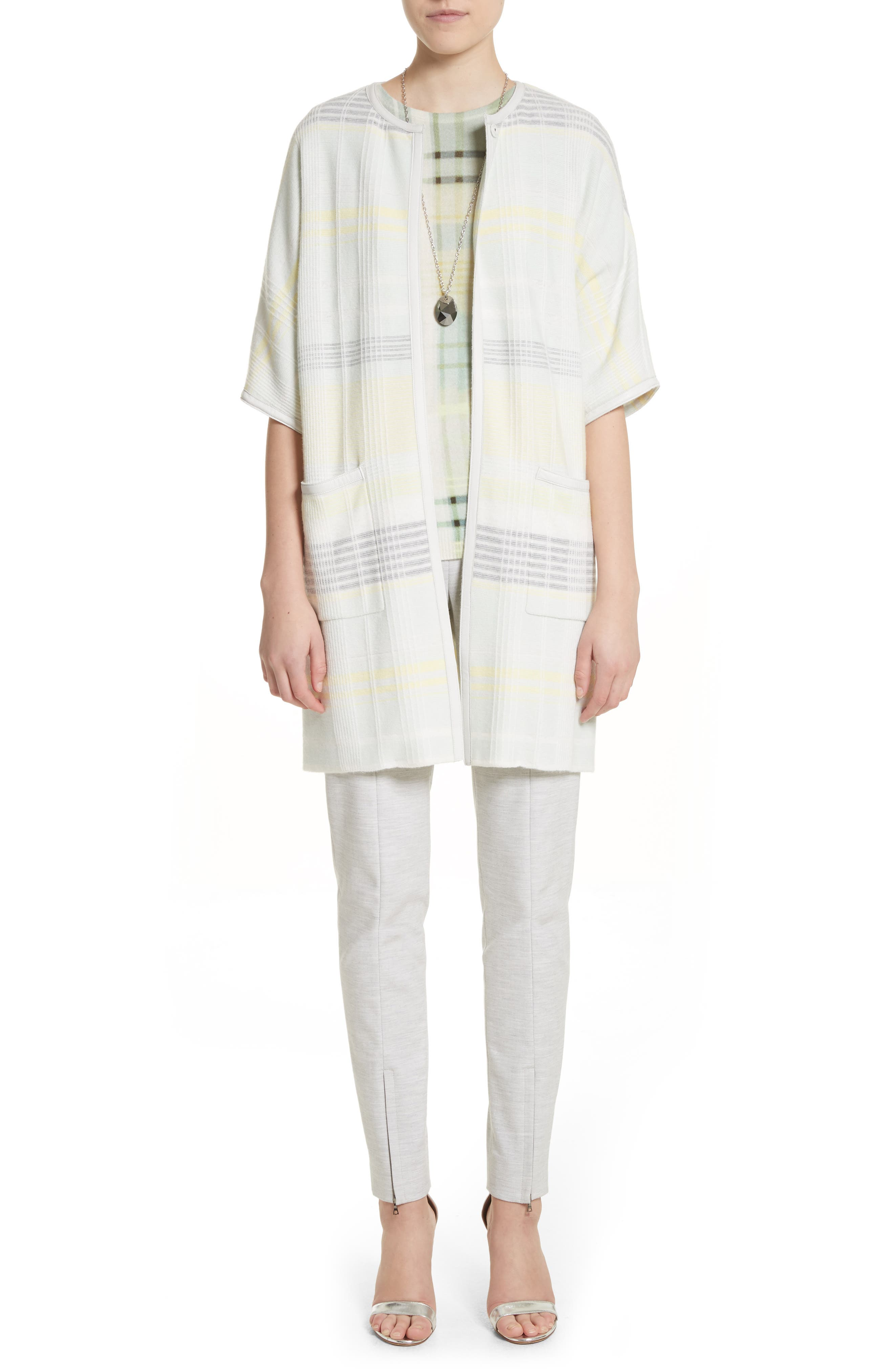 Summer Bella Double Weave Pants,                             Alternate thumbnail 5, color,                             Light Grey Melange