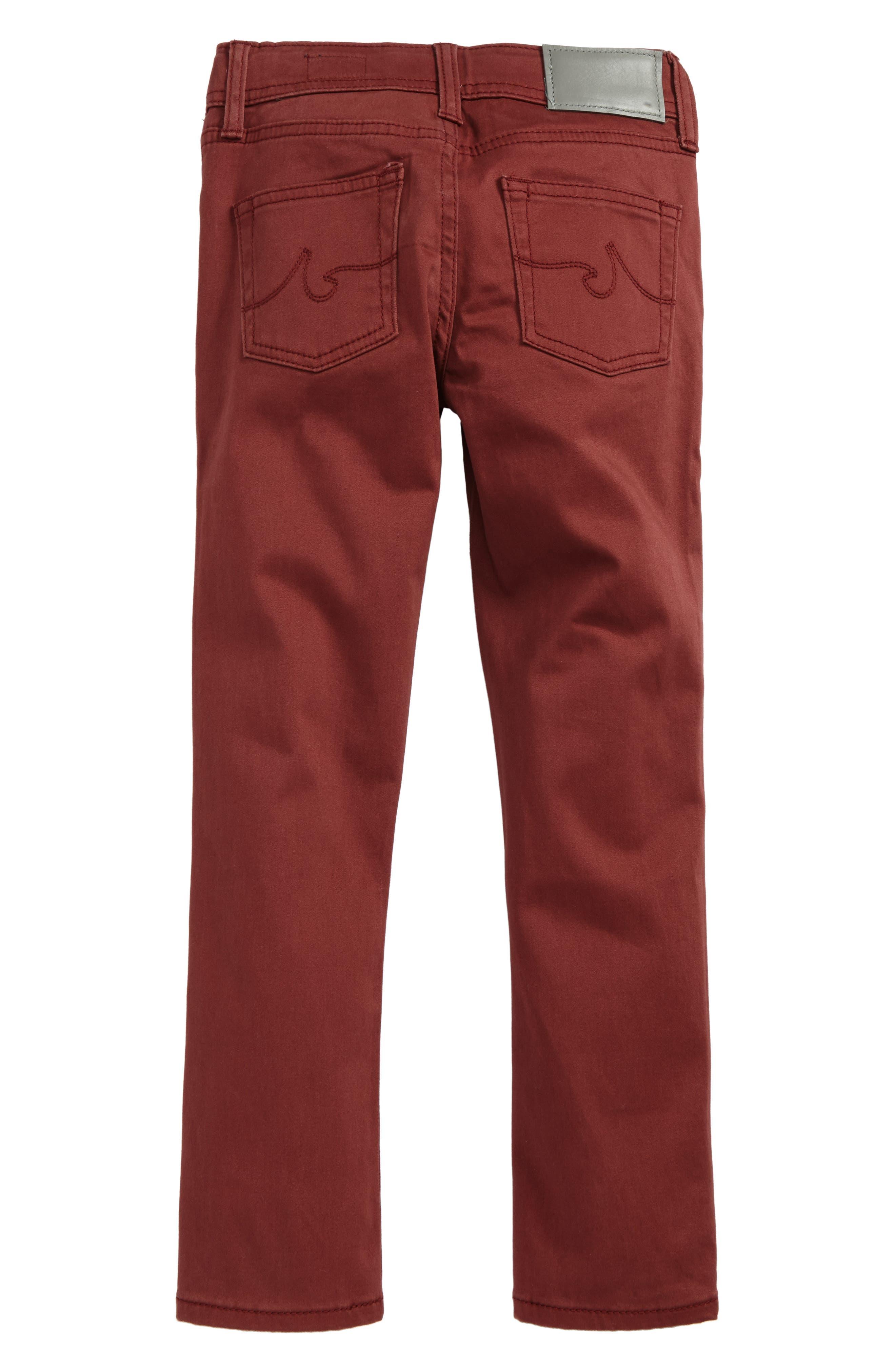The Kingston Luxe Slim Jeans,                             Alternate thumbnail 2, color,                             Brick