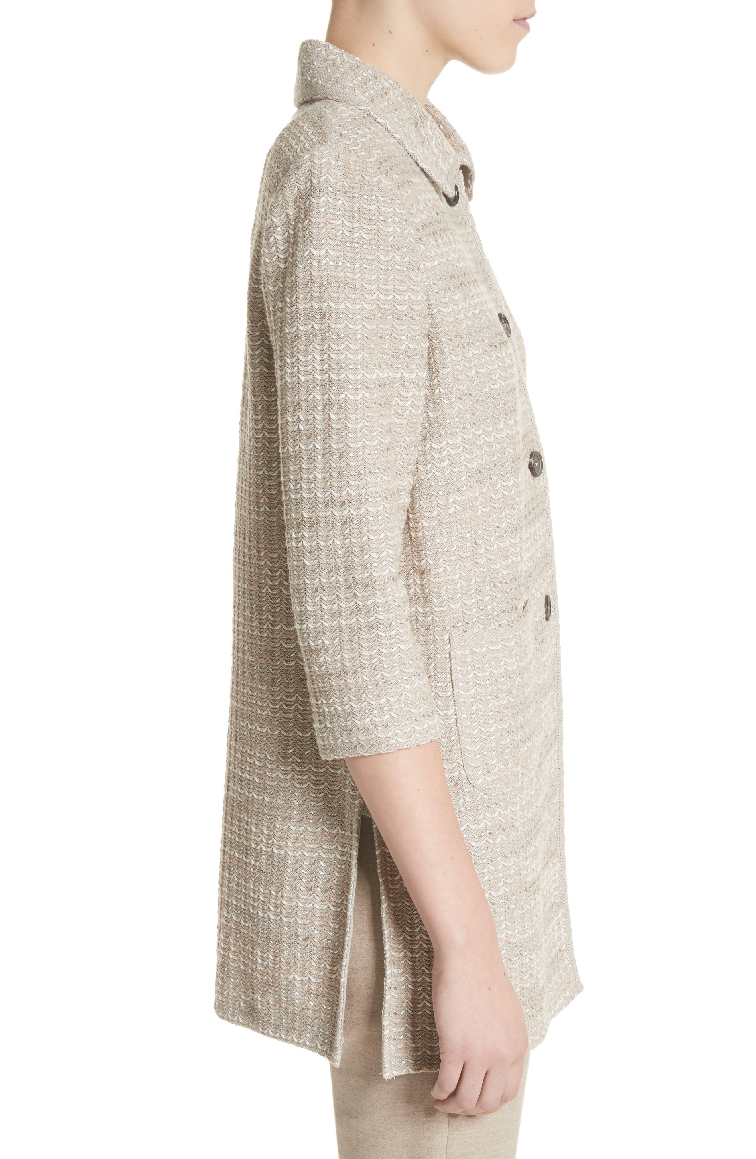 Alternate Image 3  - St. John Collection Chevron Knit Shantung Jacket