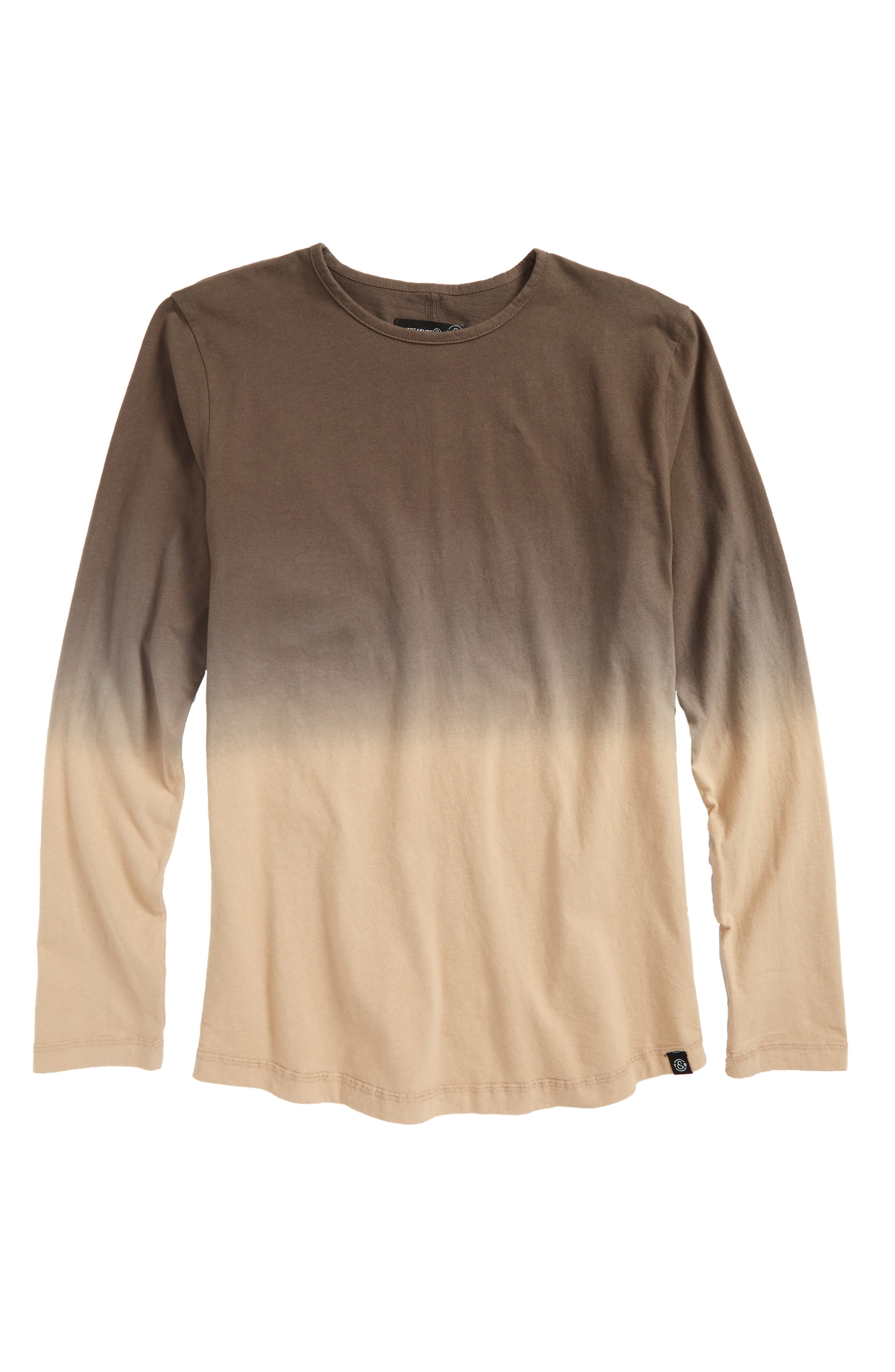 Dip Dye T-Shirt,                             Main thumbnail 1, color,                             Olive Grove- Beige