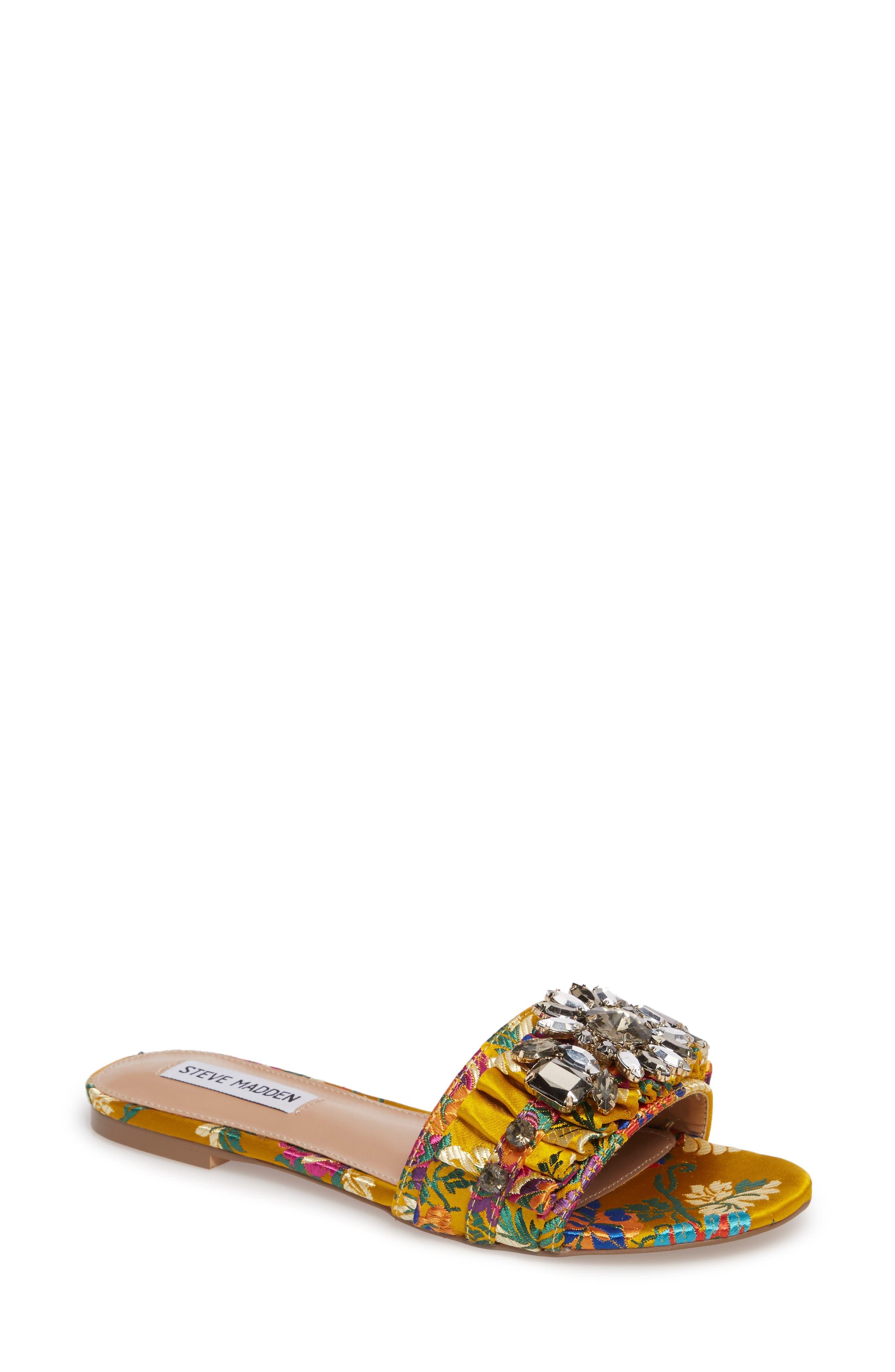 Alternate Image 1 Selected - Steve Madden Pomona Crystal Embellished Slide Sandal (Women)