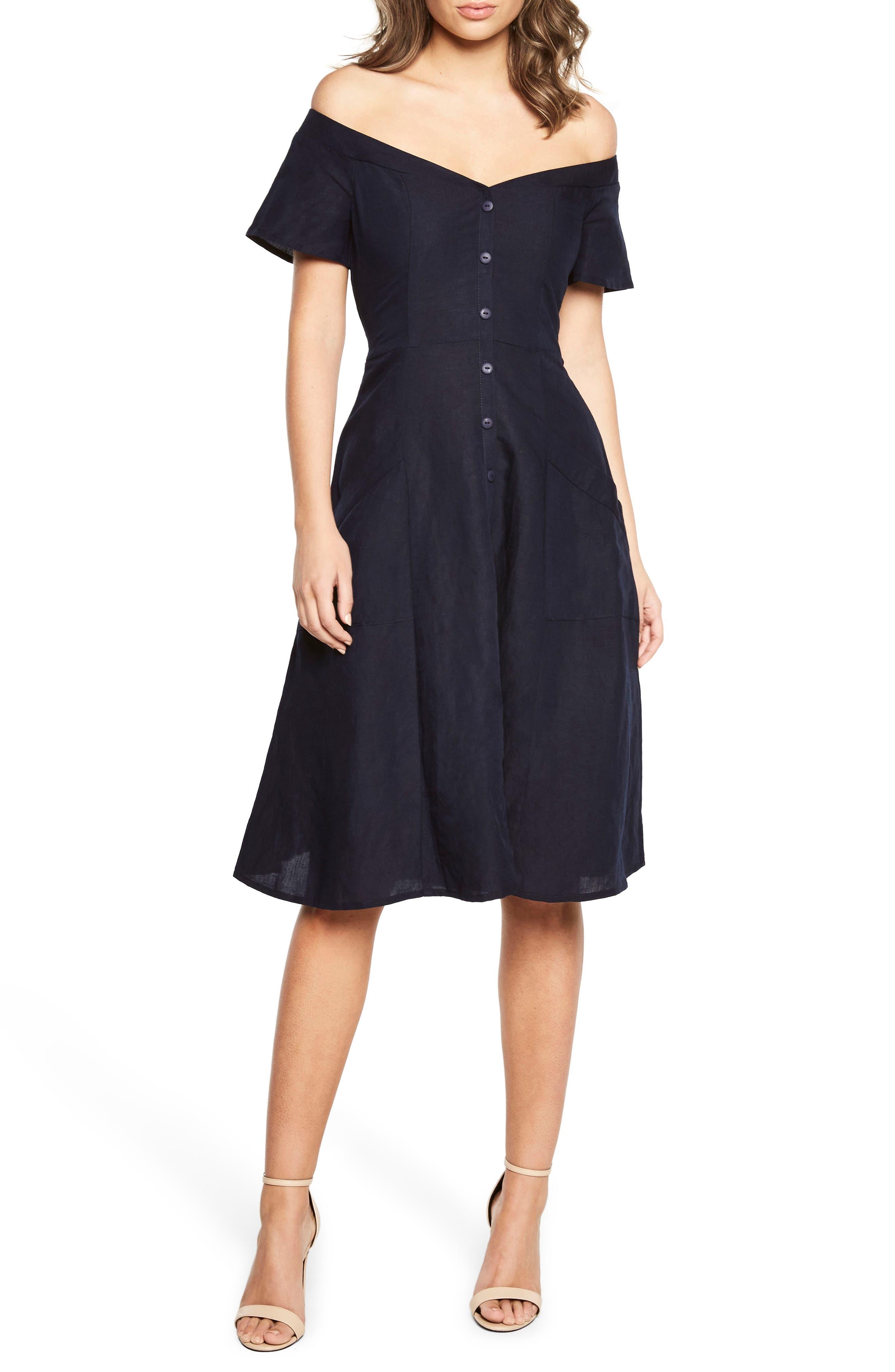 Main Image - Bardot Ophelia Off the Shoulder Dress