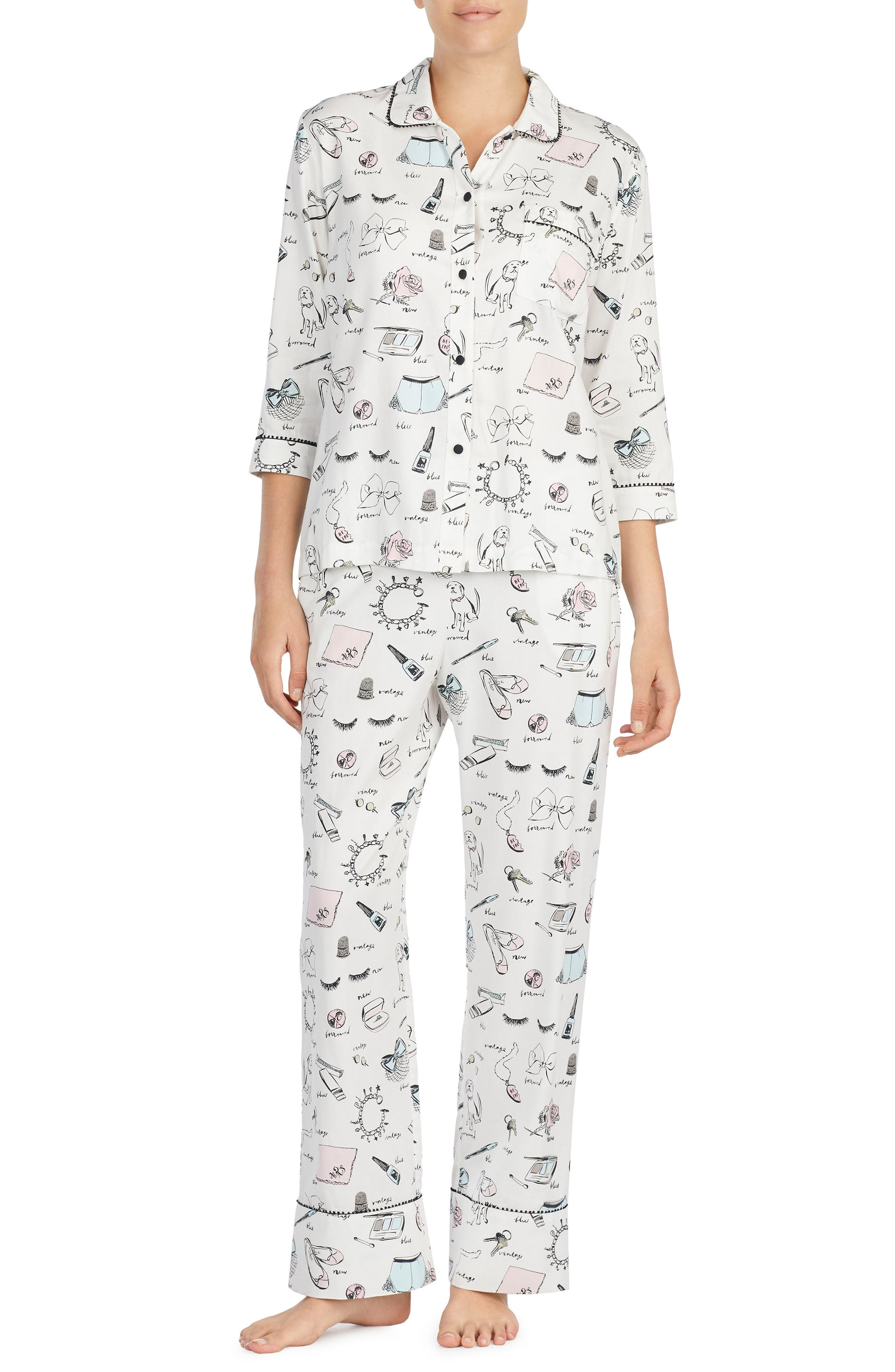kate spade new york print pajamas