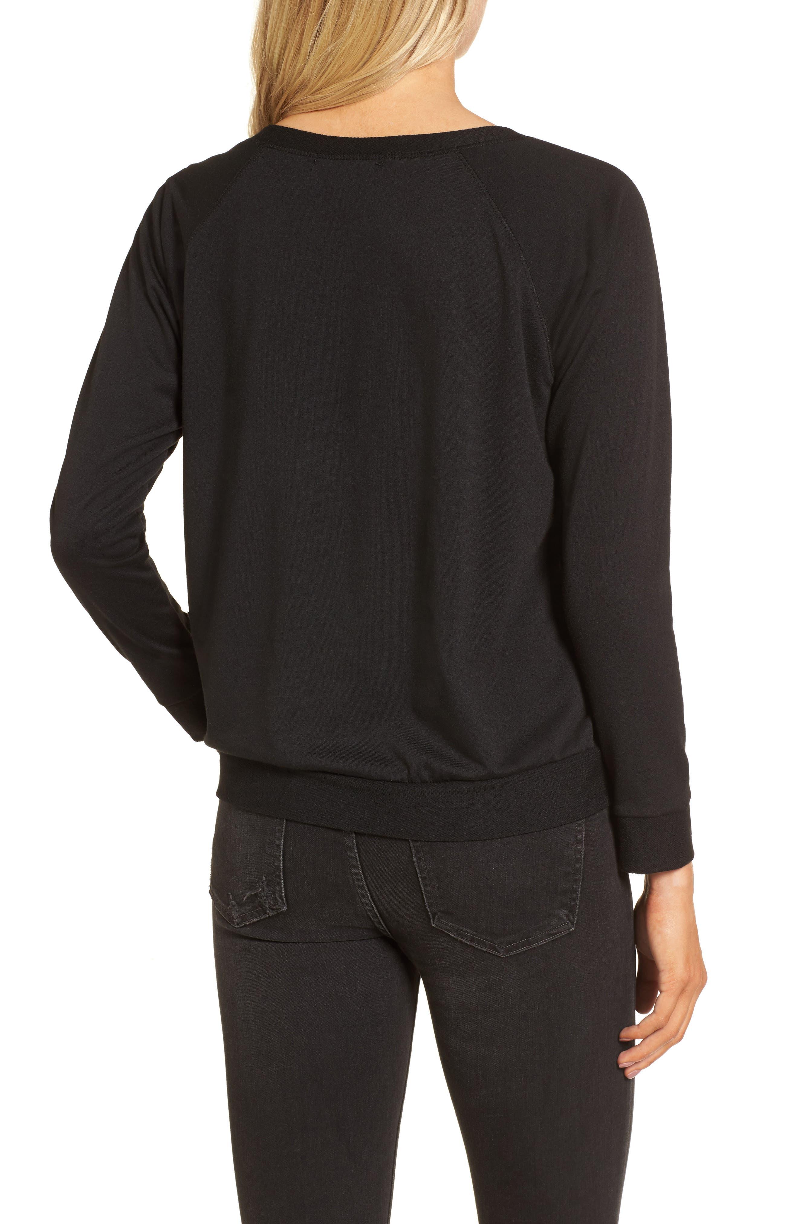 Winter Is Coming Sweatshirt,                             Alternate thumbnail 2, color,                             Black