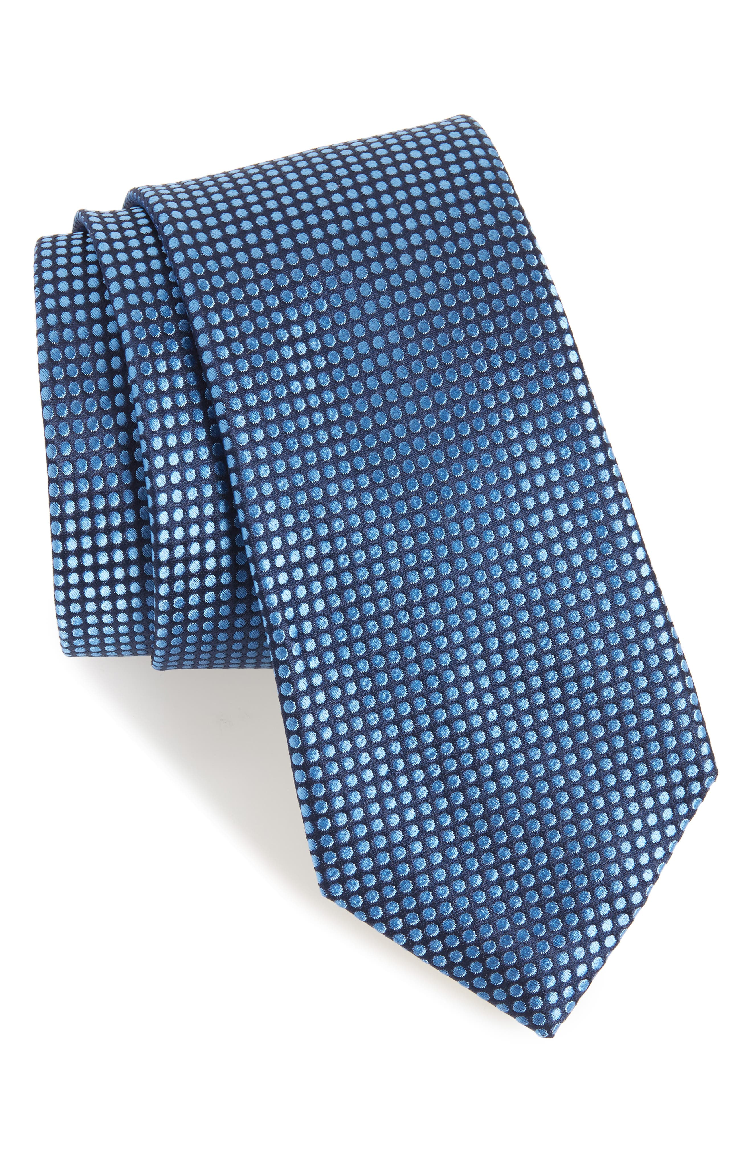 Alternate Image 1 Selected - Nordstrom Men's Shop Charlie Dots Silk Tie
