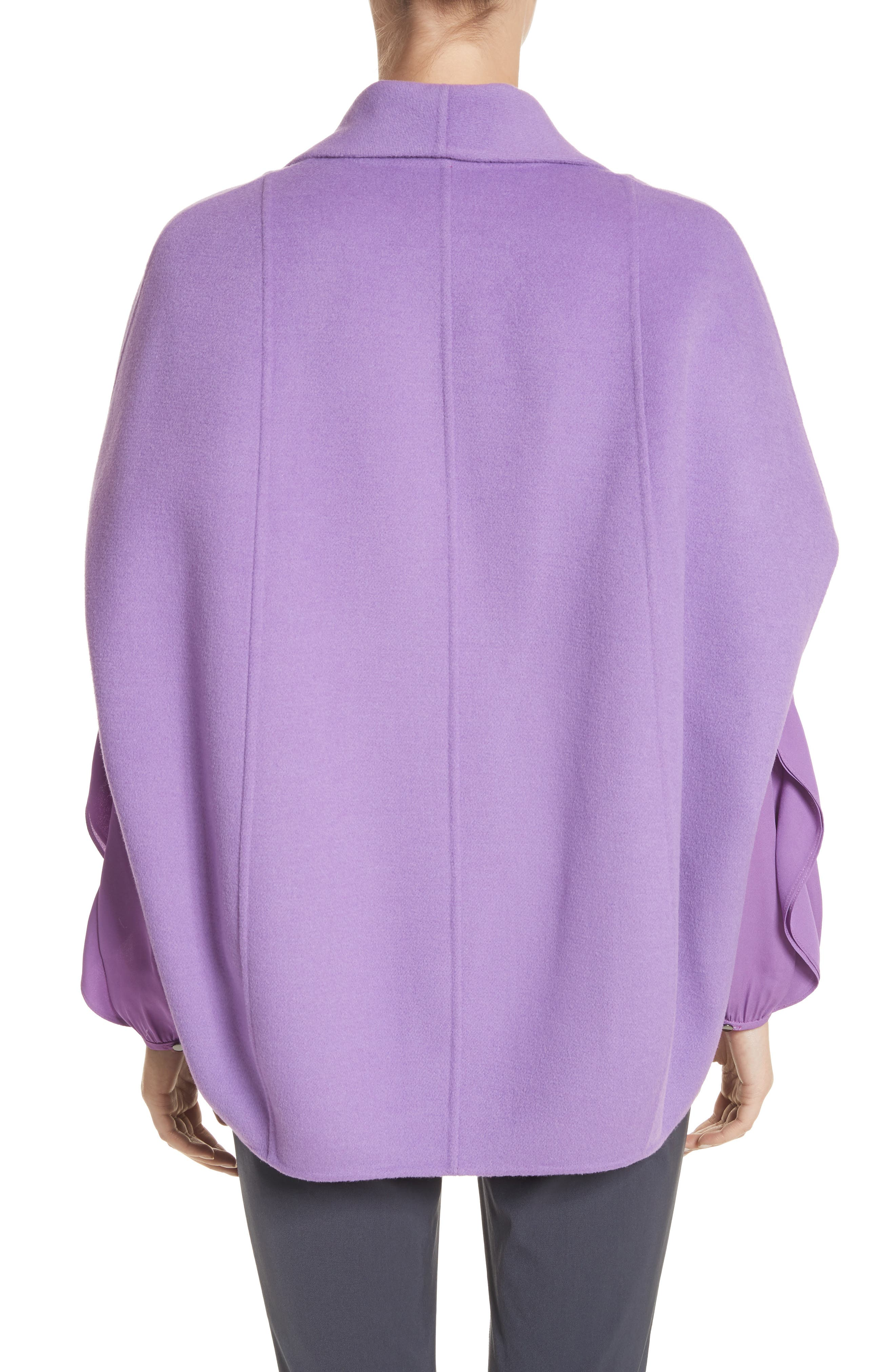 Double Face Wool & Angora Blend Jacket,                             Alternate thumbnail 2, color,                             Dark Orchid