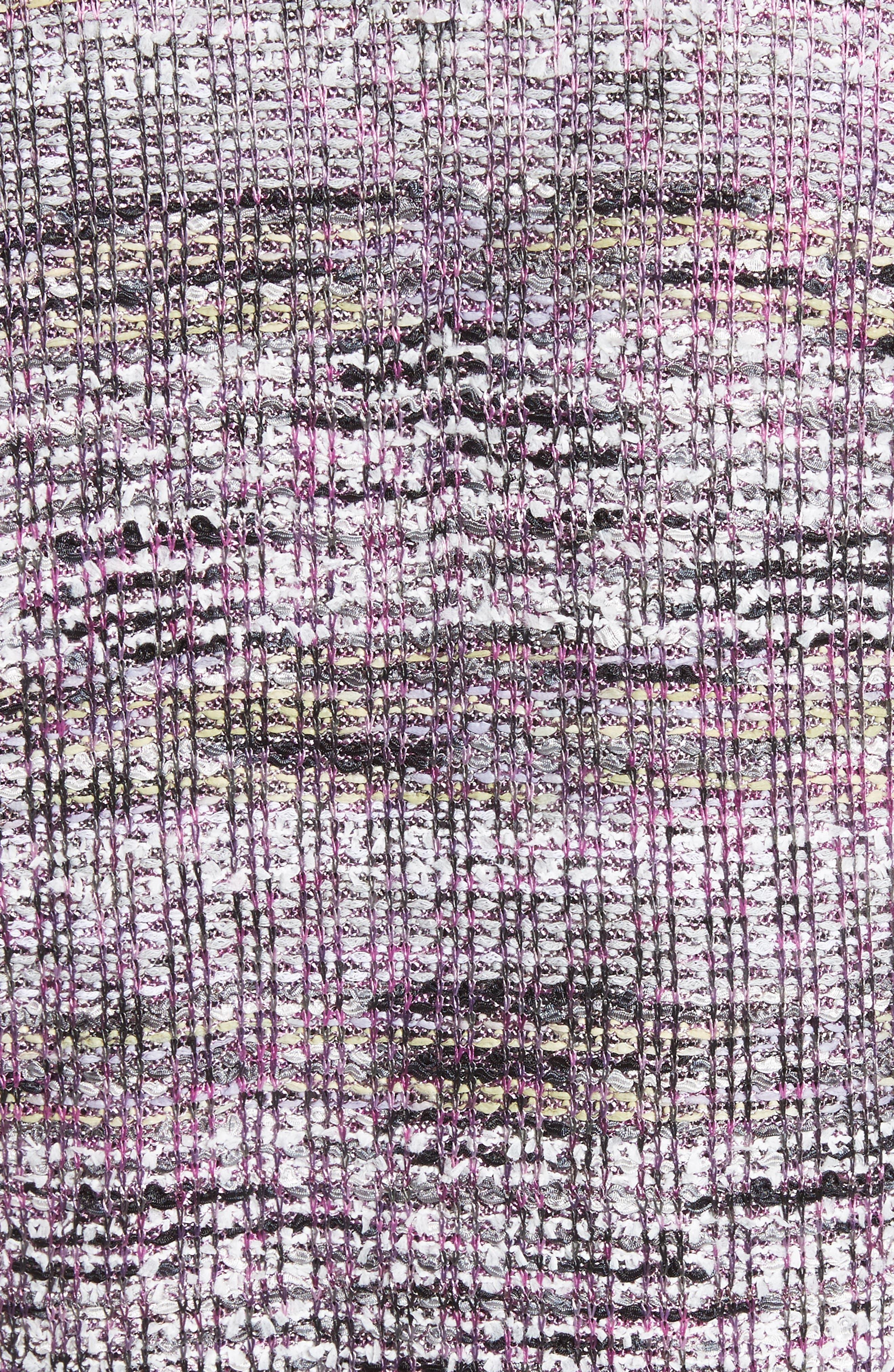 Anna Stripe Tweed Dolman Jacket,                             Alternate thumbnail 6, color,                             Orchid Multi