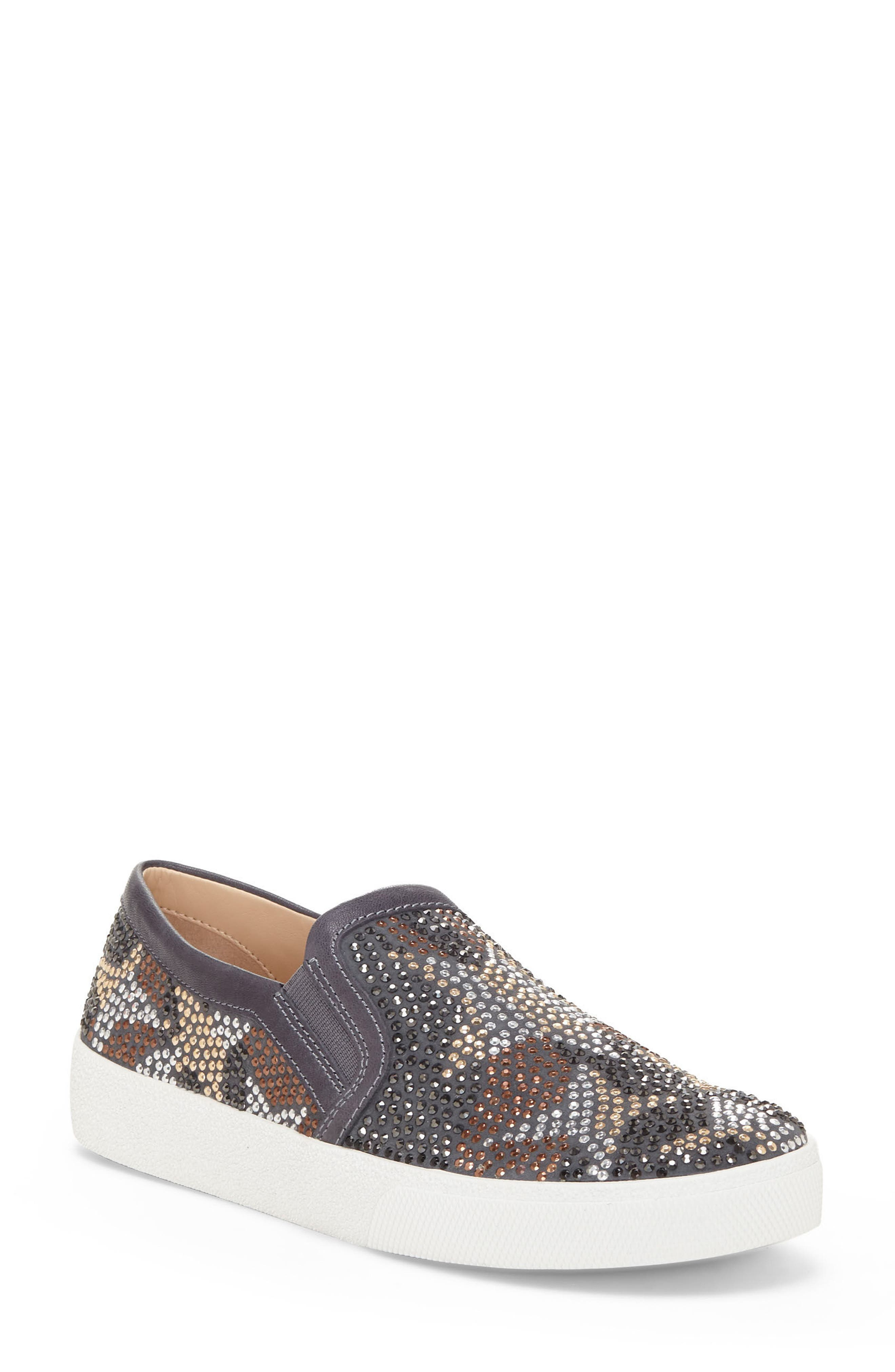 Canita Slip-On Sneaker,                             Main thumbnail 1, color,                             Gravel Suede