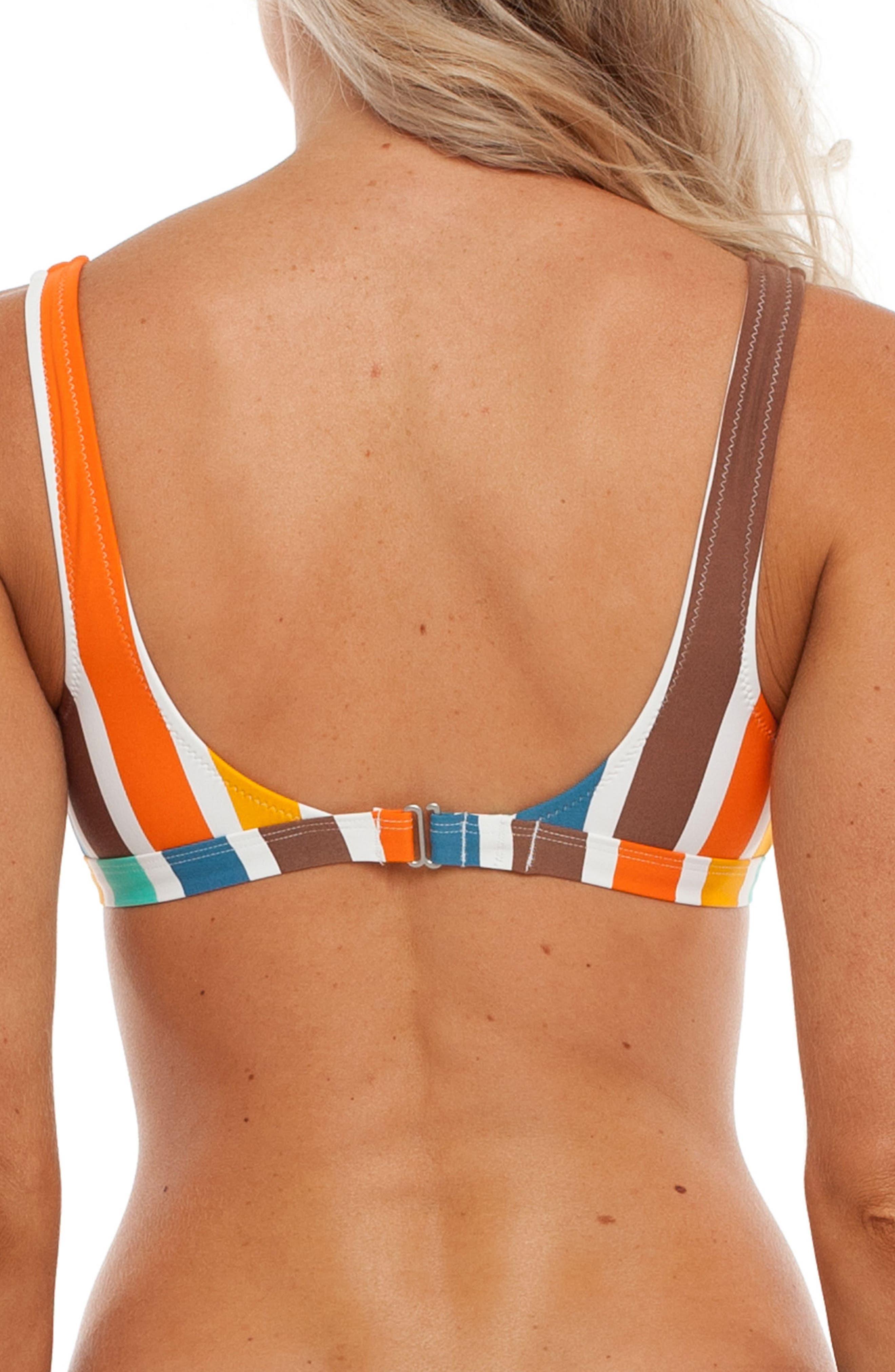 Zimbabwe Scoop Bikini Top,                             Alternate thumbnail 2, color,                             Tangelo Multi