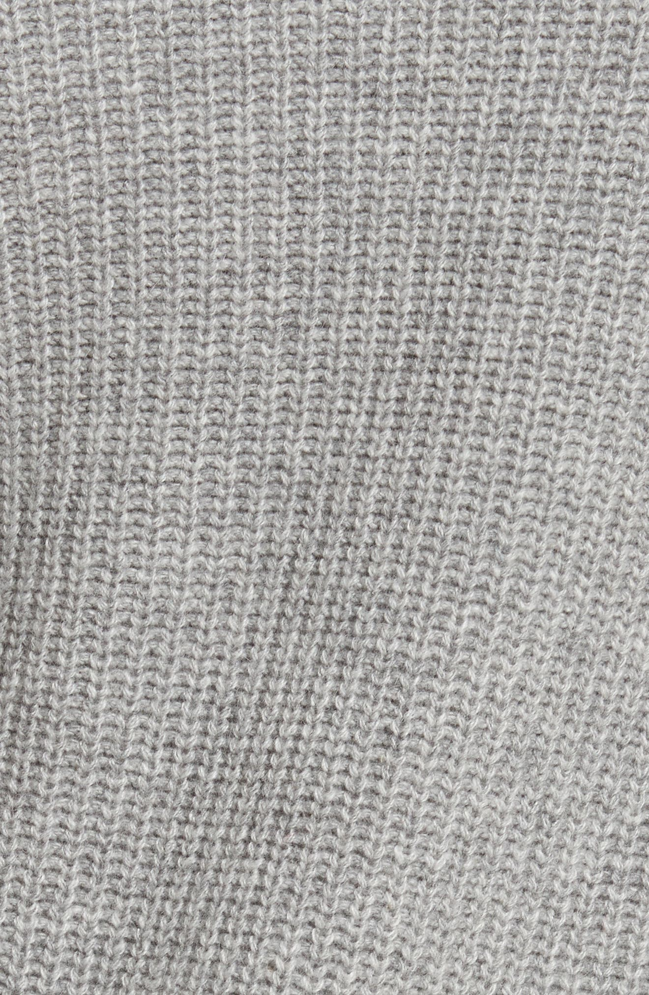 Bree Wrap Waist Sweater,                             Alternate thumbnail 5, color,                             Dovetail Melange