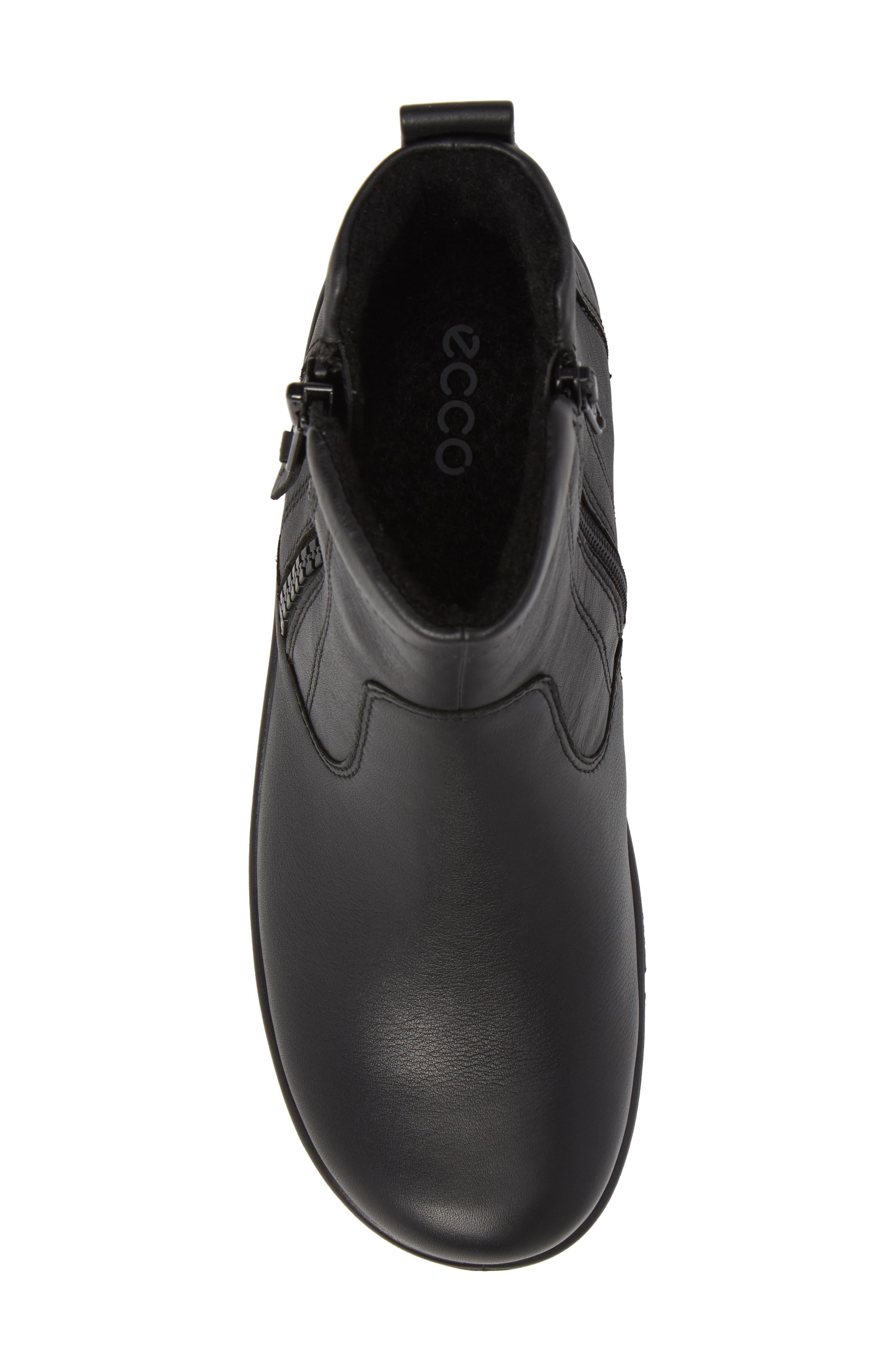 Babett Gore-Tex<sup>®</sup> Bootie,                             Alternate thumbnail 5, color,                             Black Leather