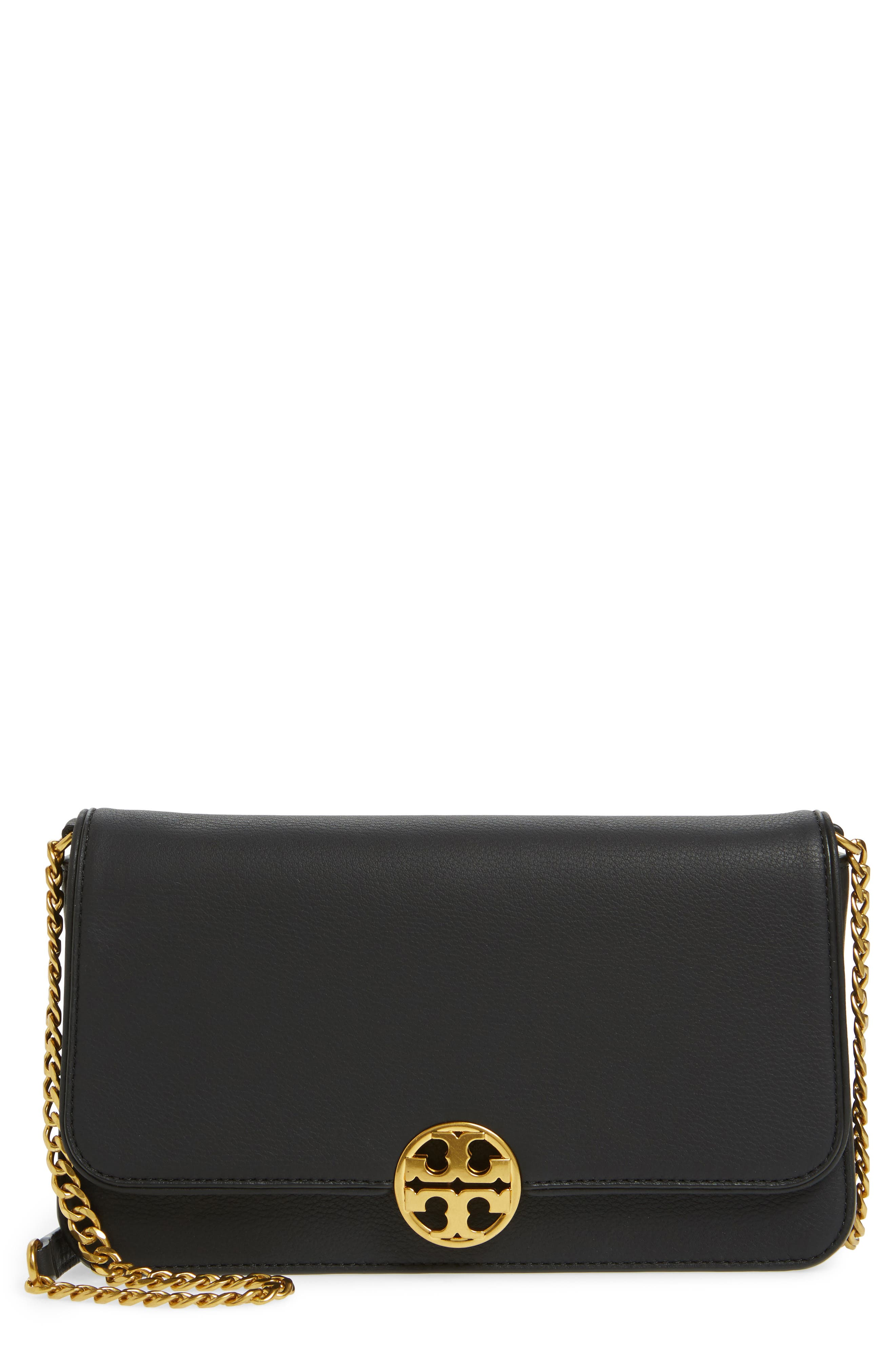 Tory Burch Chelsea Convertible Leather Clutch