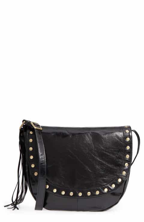 be225eebfa6b Hobo Maverick Studded Leather Saddle Bag