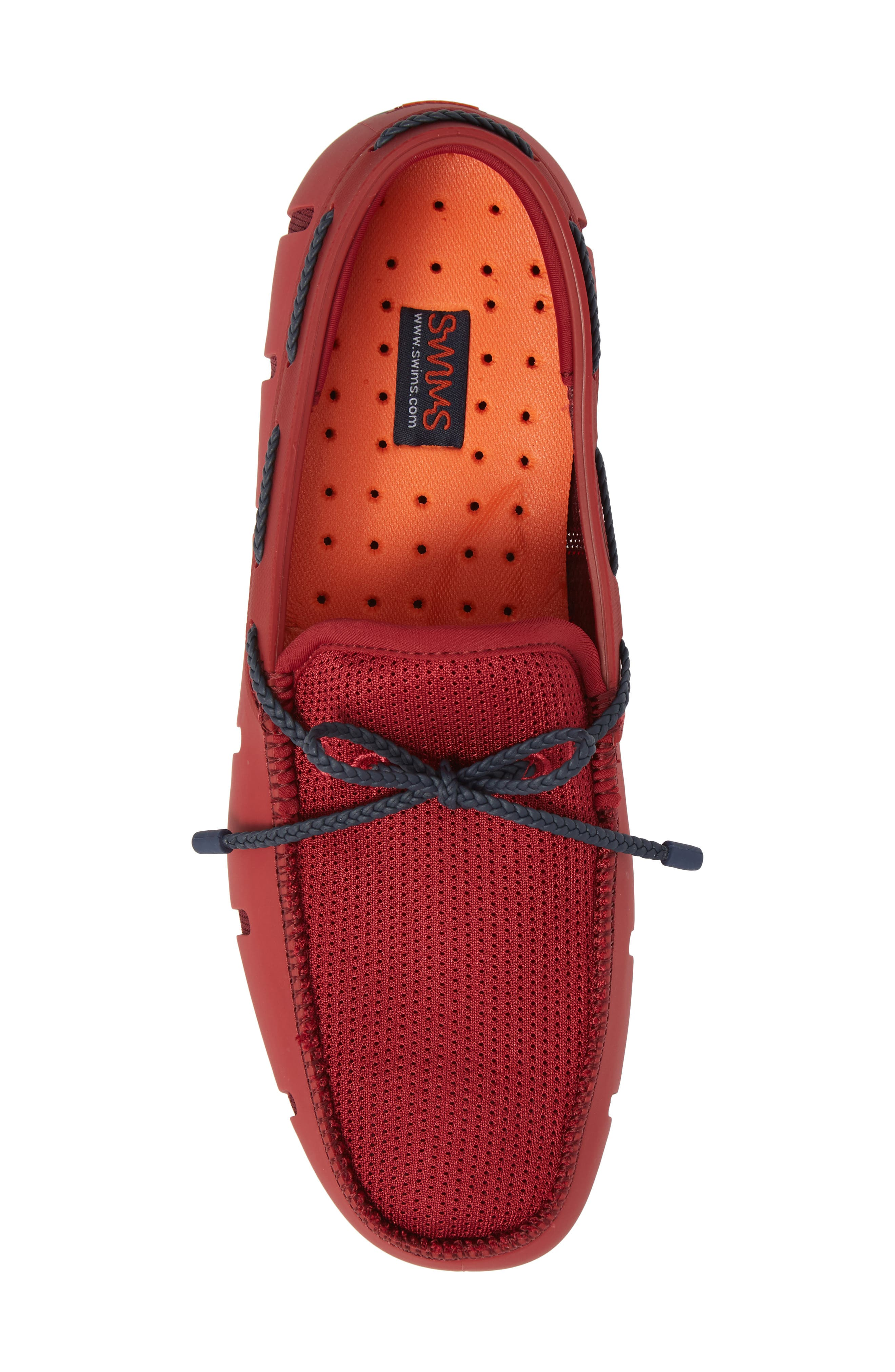 Loafer,                             Alternate thumbnail 5, color,                             Deep Red / Navy