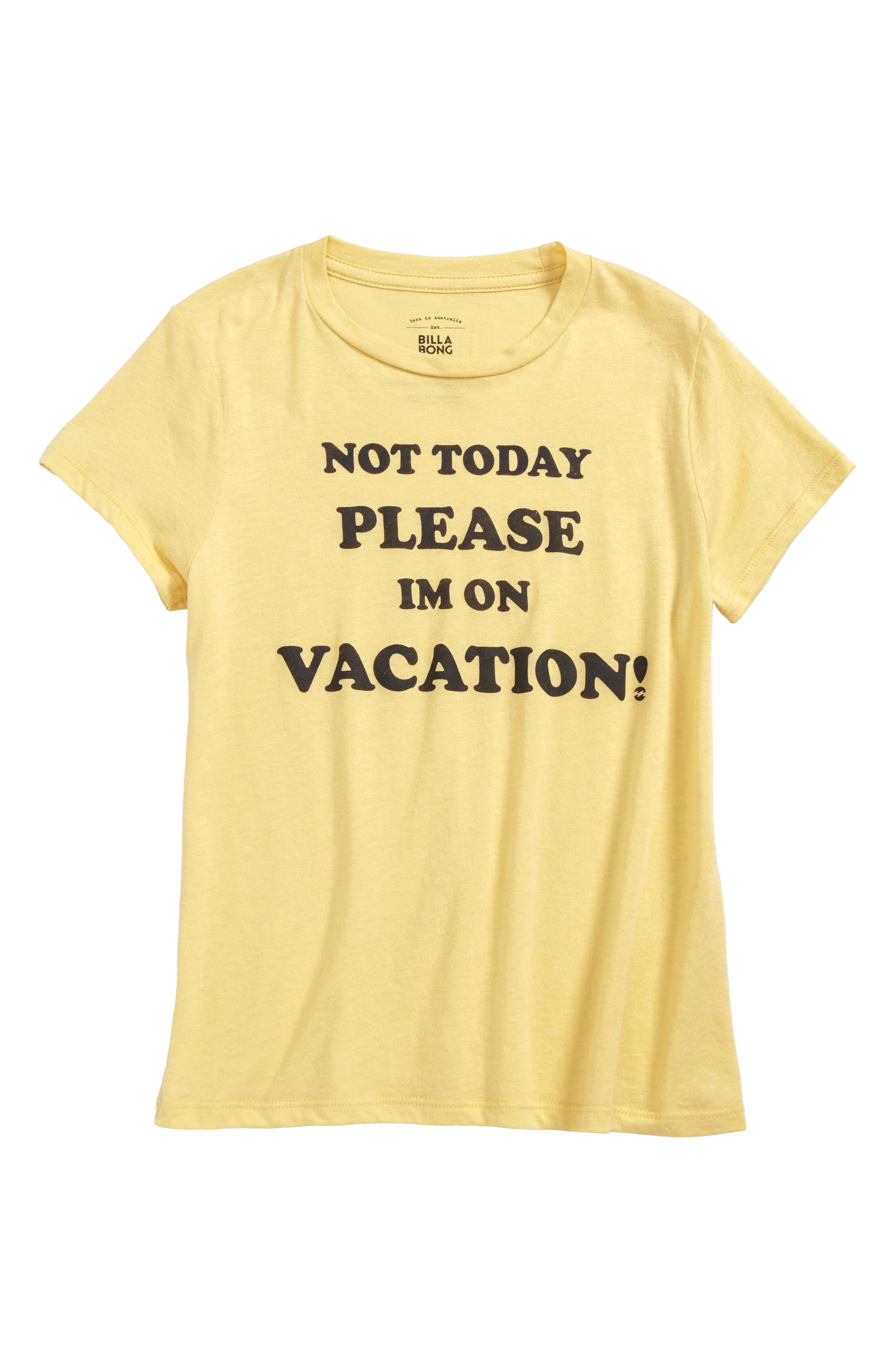 Vacay Graphic Tee,                         Main,                         color, Mellow Yellow