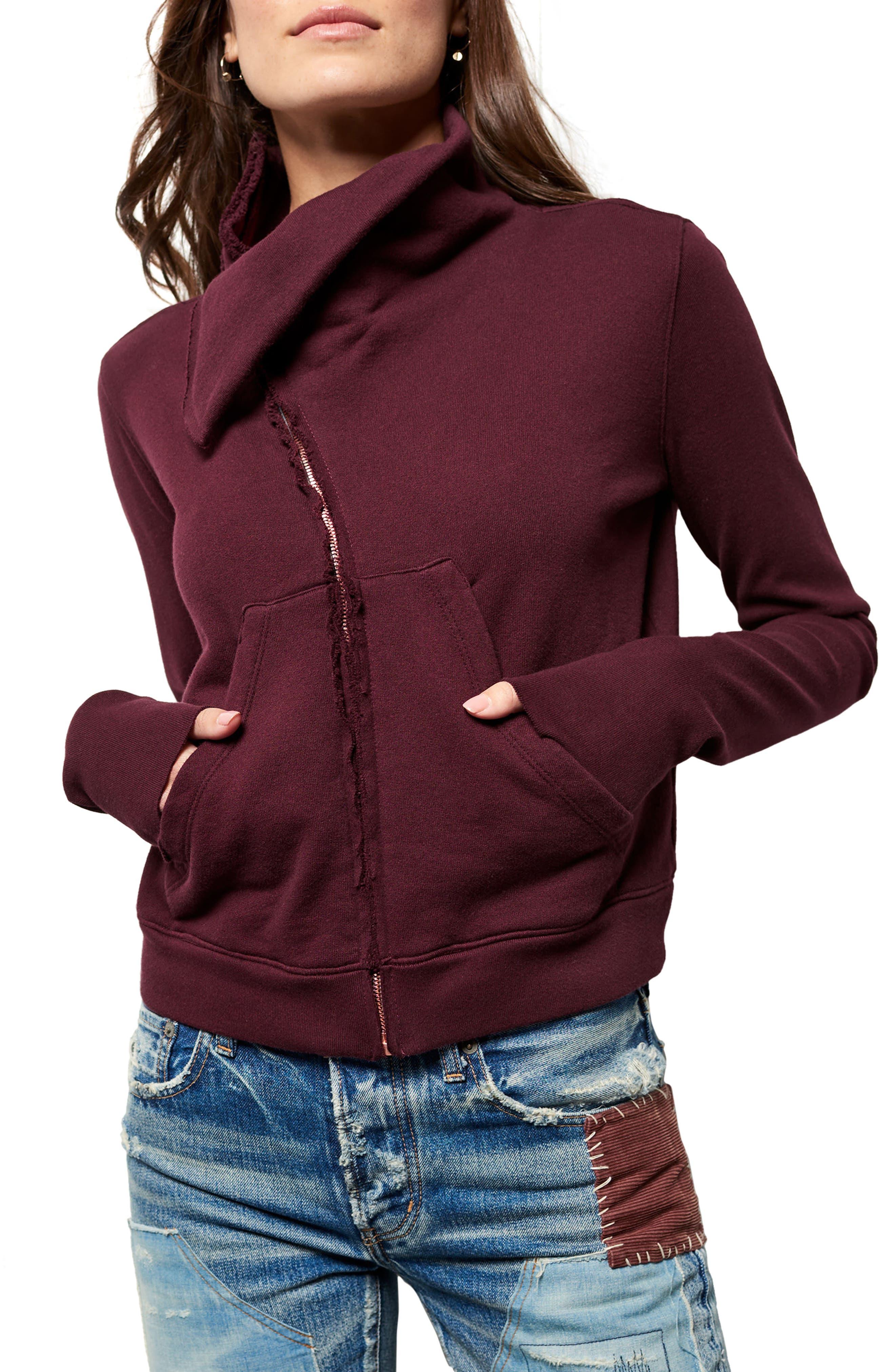 Zip Fleece Jacket,                         Main,                         color, Vamp