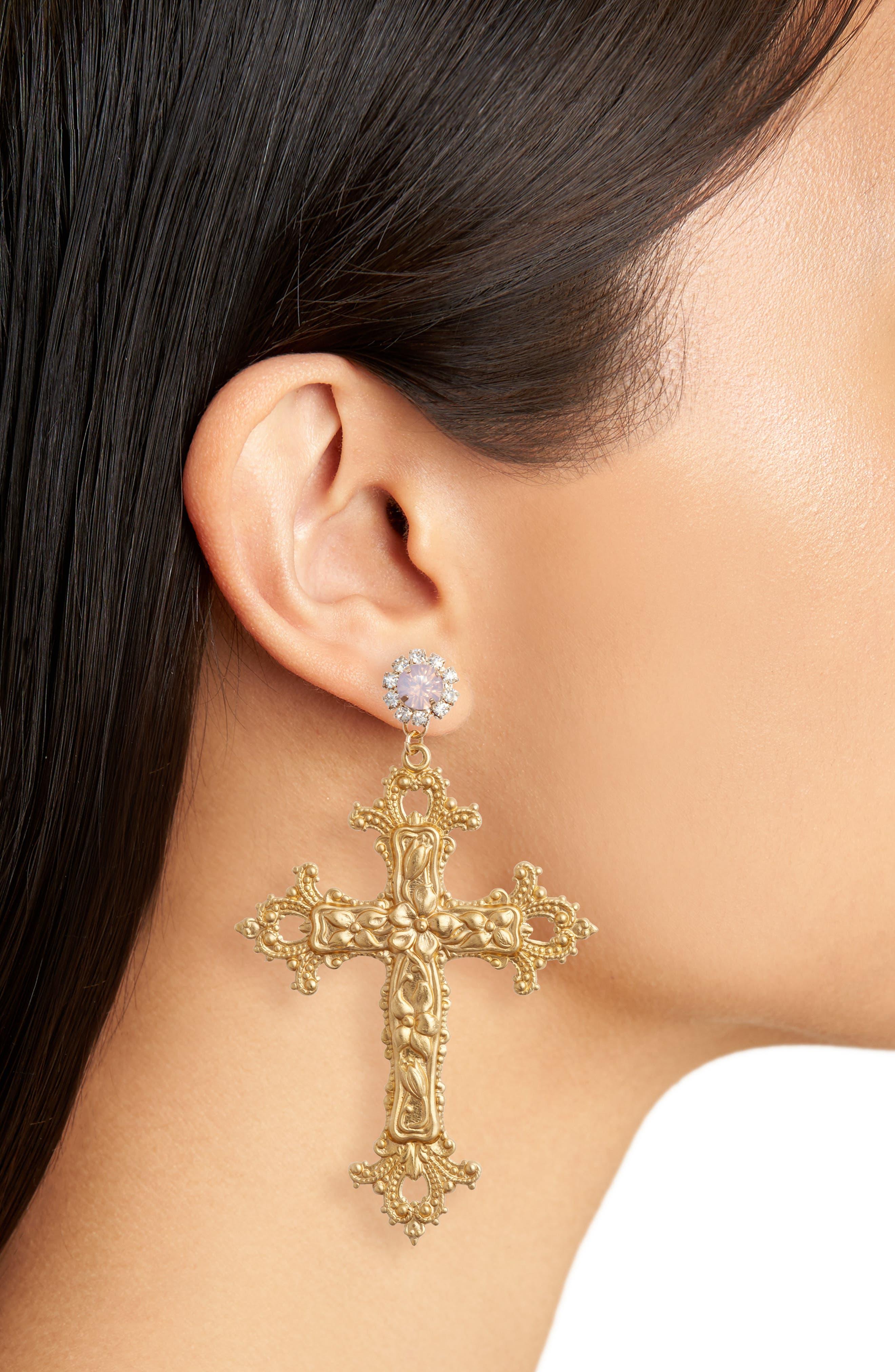 Alternate Image 2  - FRASIER STERLING Vatican City Drop Earrings