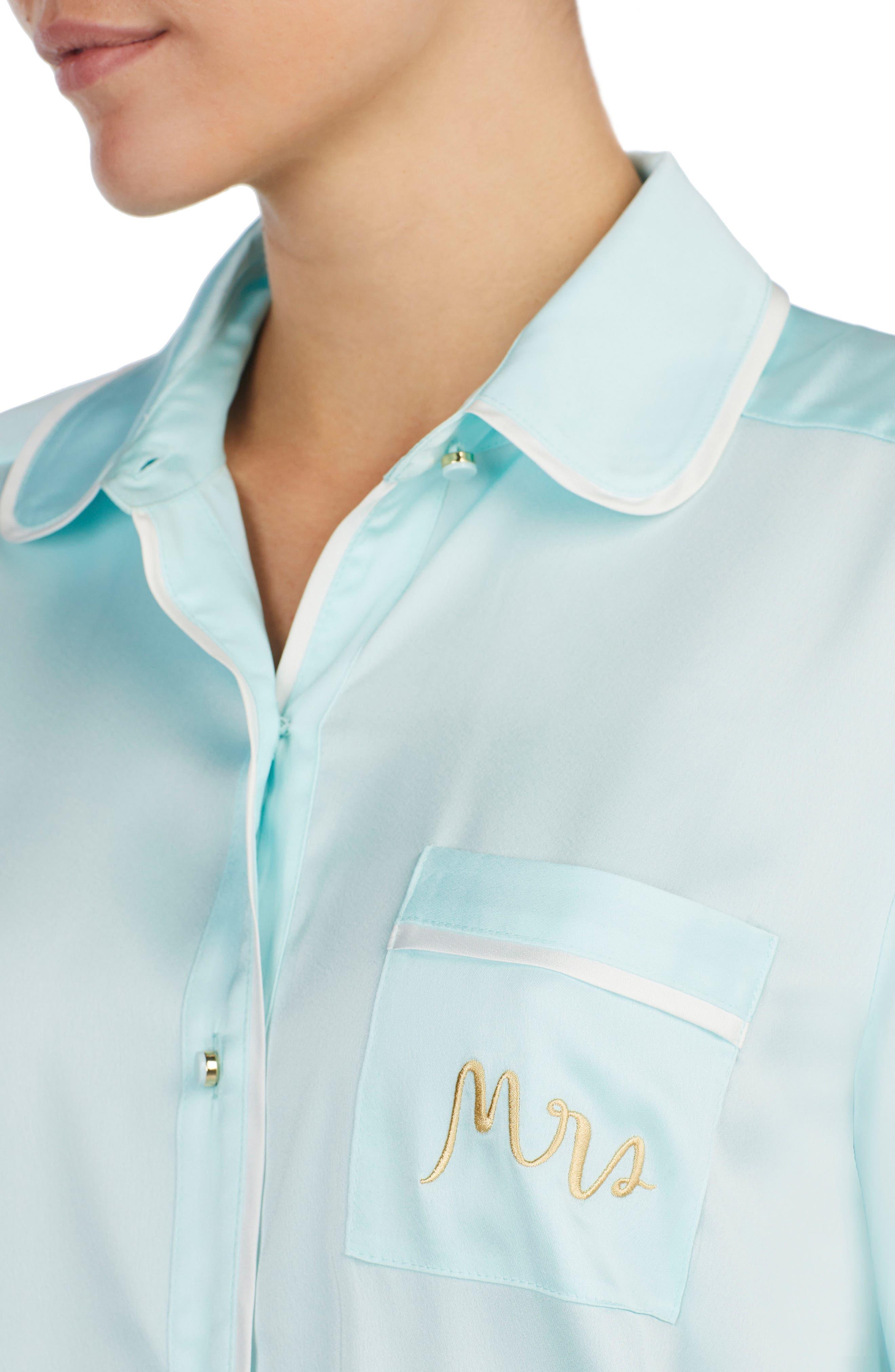 Alternate Image 4  - kate spade new york mrs charmeuse crop pajamas