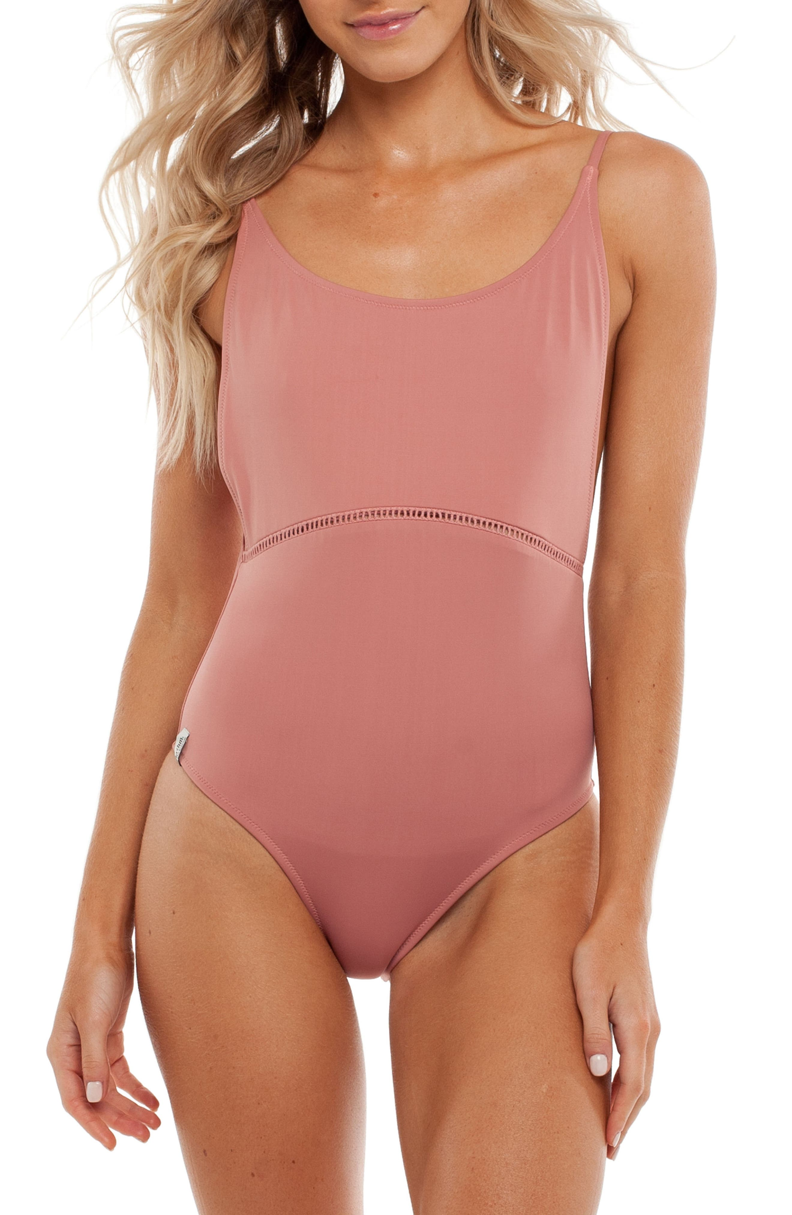 My Scoop One-Piece Swimsuit,                         Main,                         color, Dawn