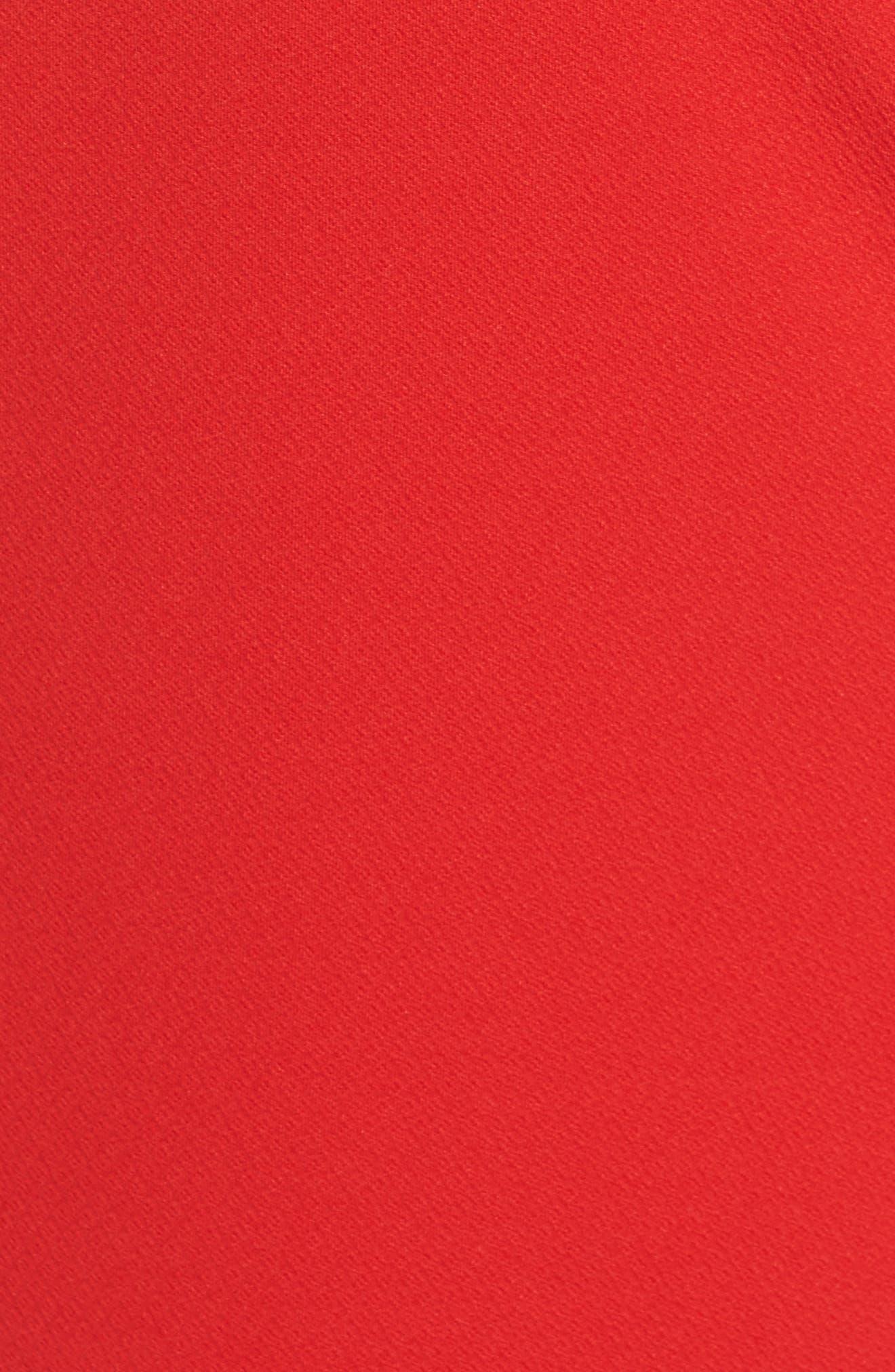 Camari Choker Collar Sheath Dress,                             Alternate thumbnail 5, color,                             Pagoda Red