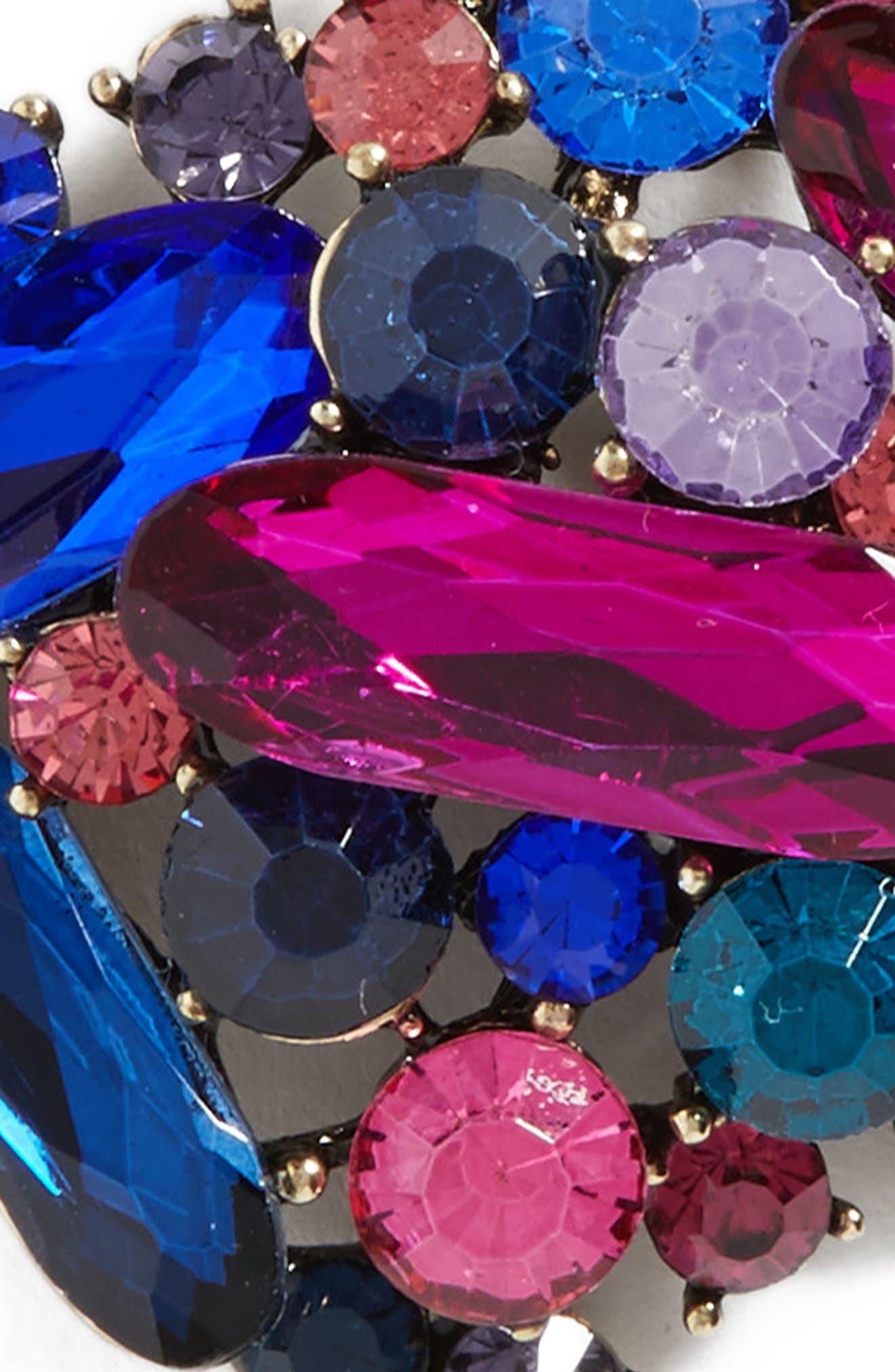 Crystal Embellished Ponytail Holder,                             Alternate thumbnail 3, color,                             Pink Multi