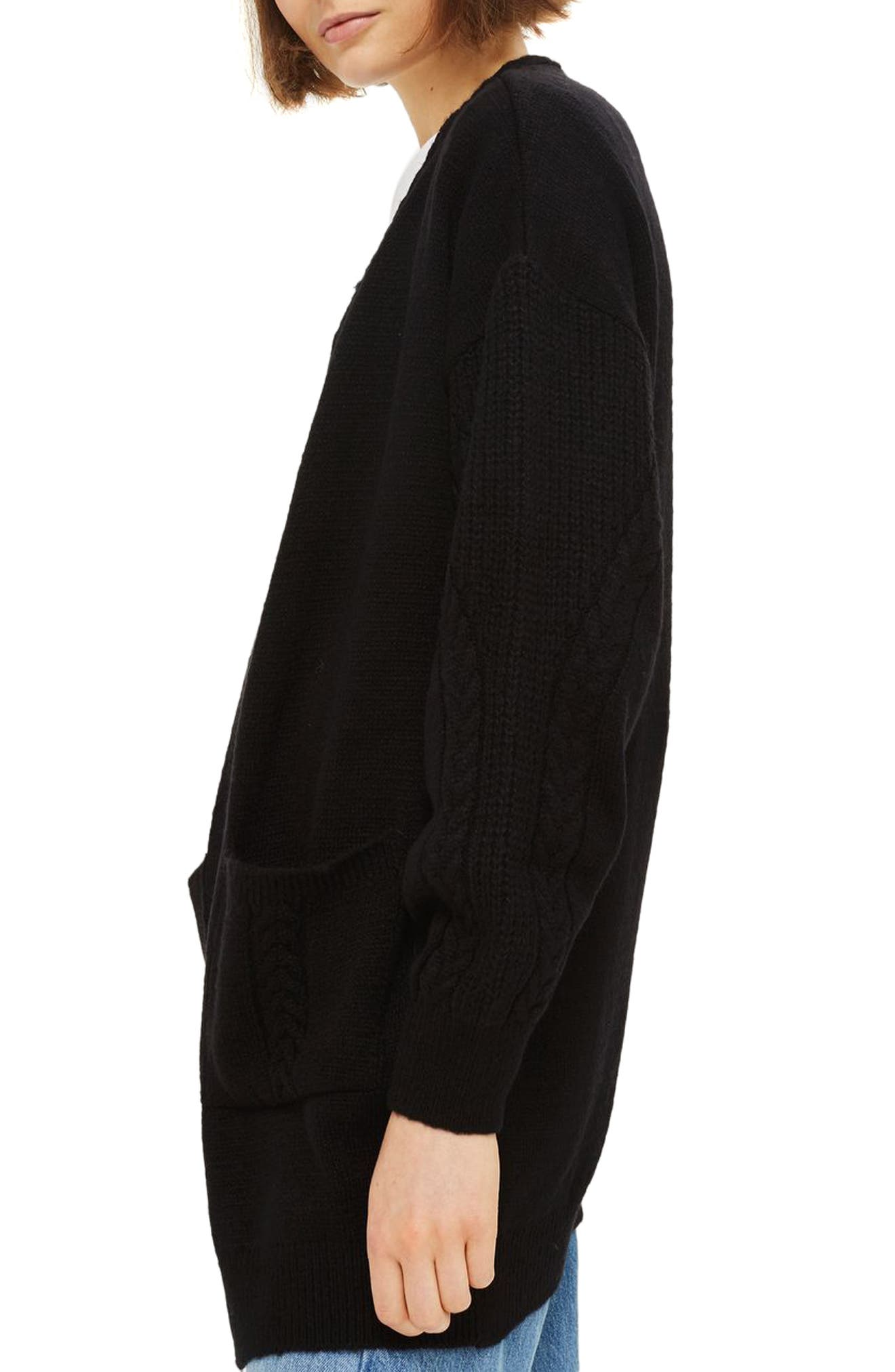 Alternate Image 3  - Topshop Cable Sleeve Cardigan