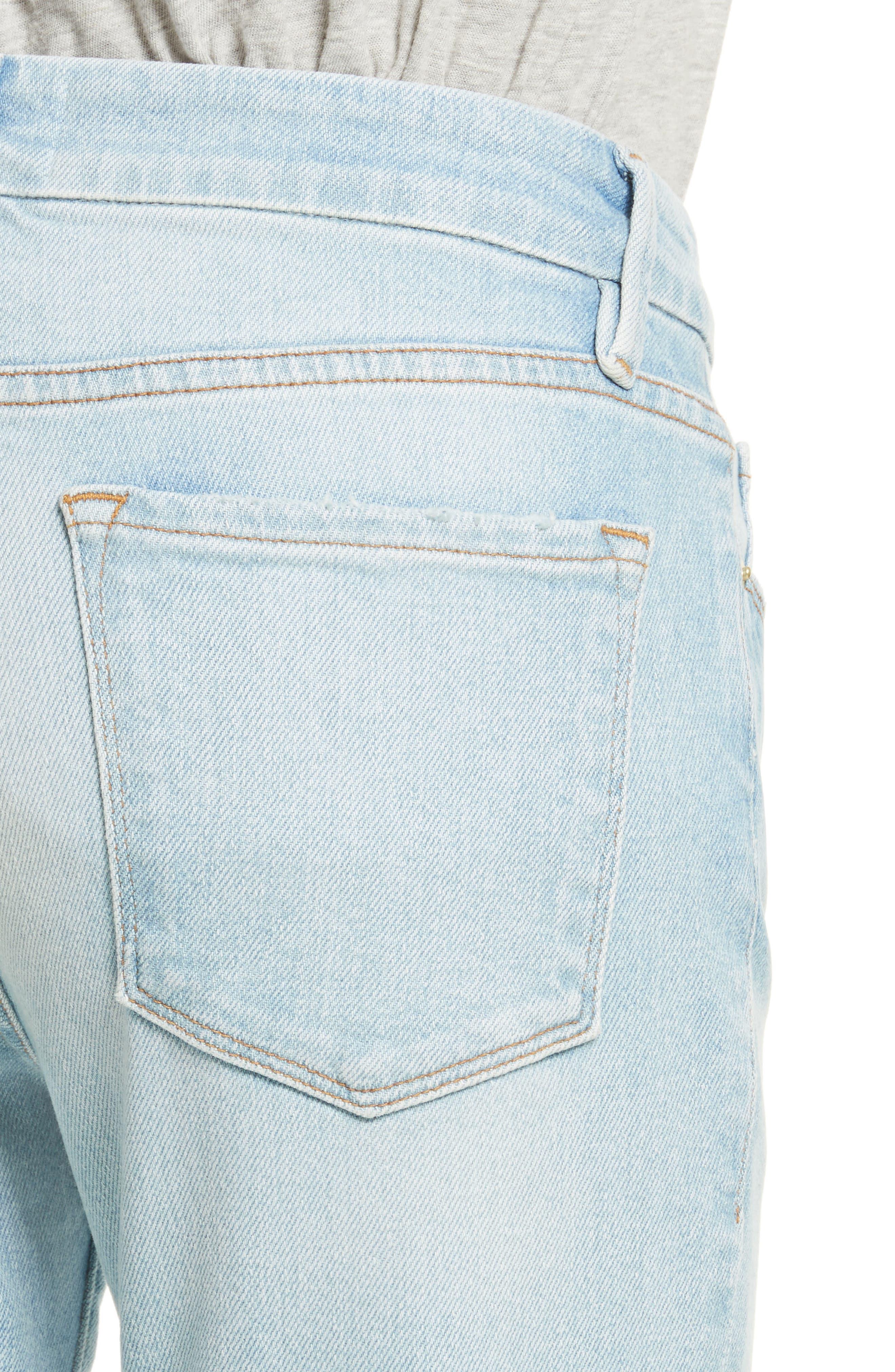 Le Crop Mini Boot Jeans,                             Alternate thumbnail 4, color,                             Adeline