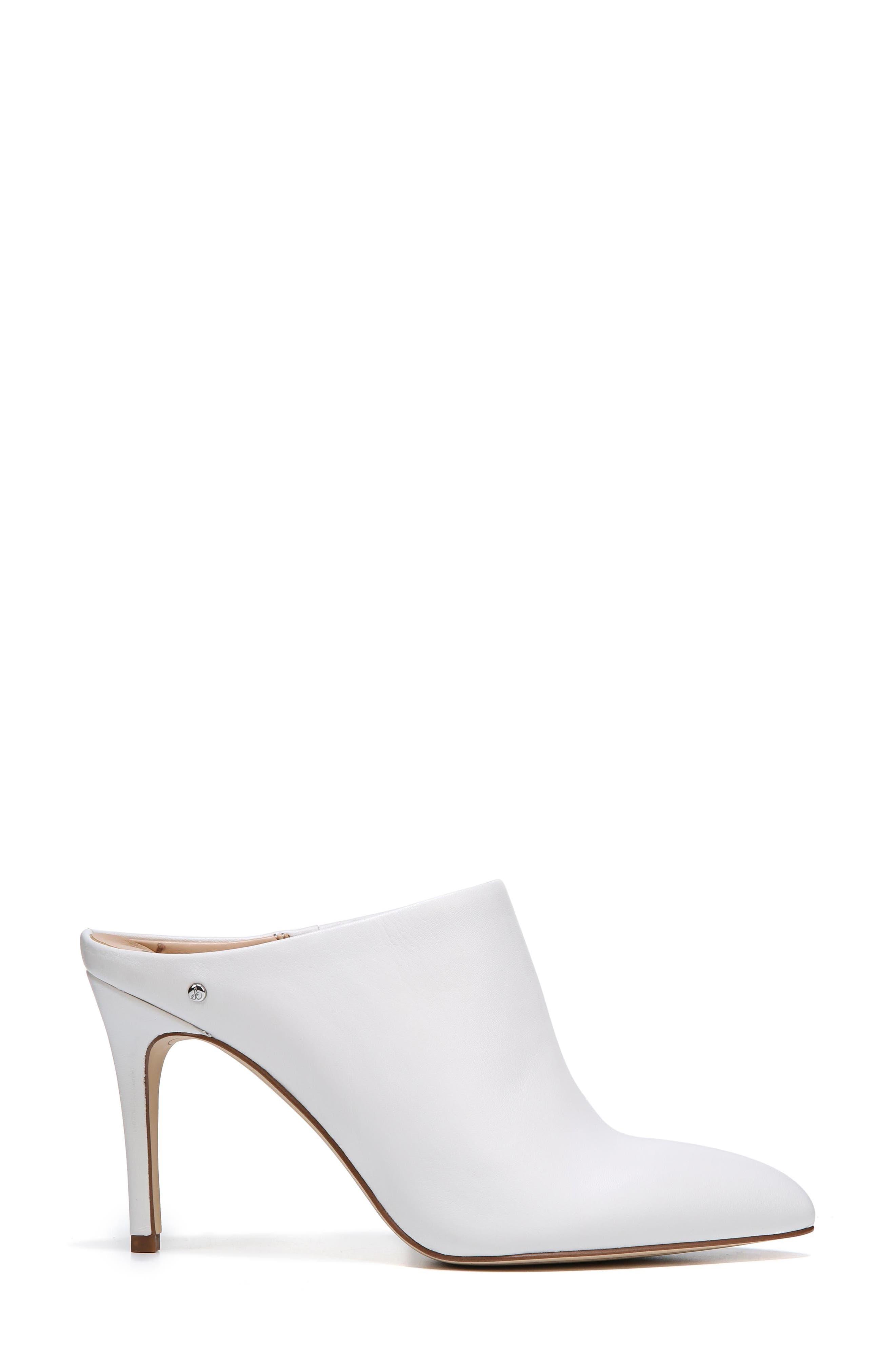 Oran Mule,                             Alternate thumbnail 3, color,                             Bright White Nappa Leather