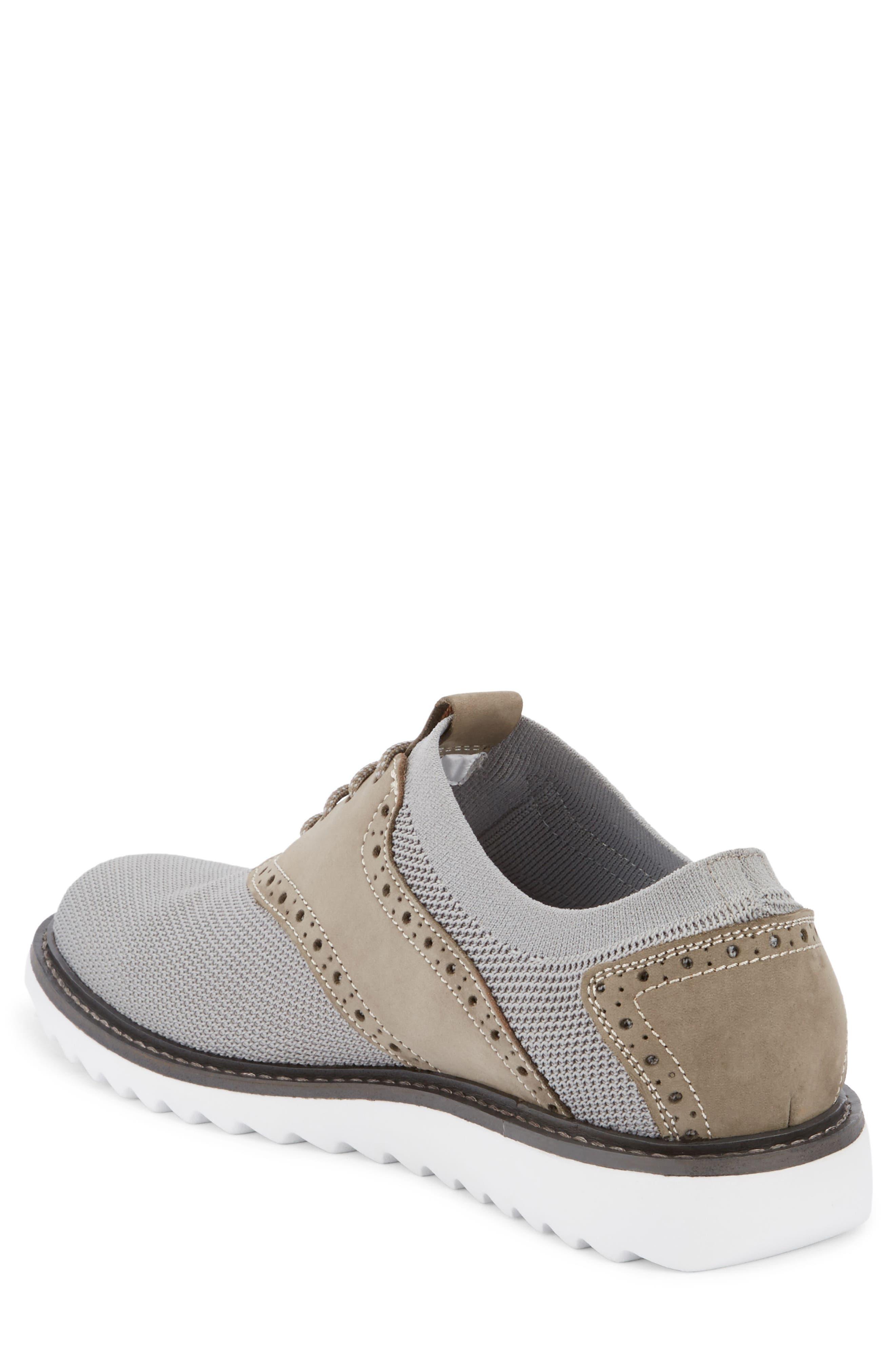 Buck 2.0 Saddle Shoe,                             Alternate thumbnail 2, color,                             Light Grey Knit/ Nubuck
