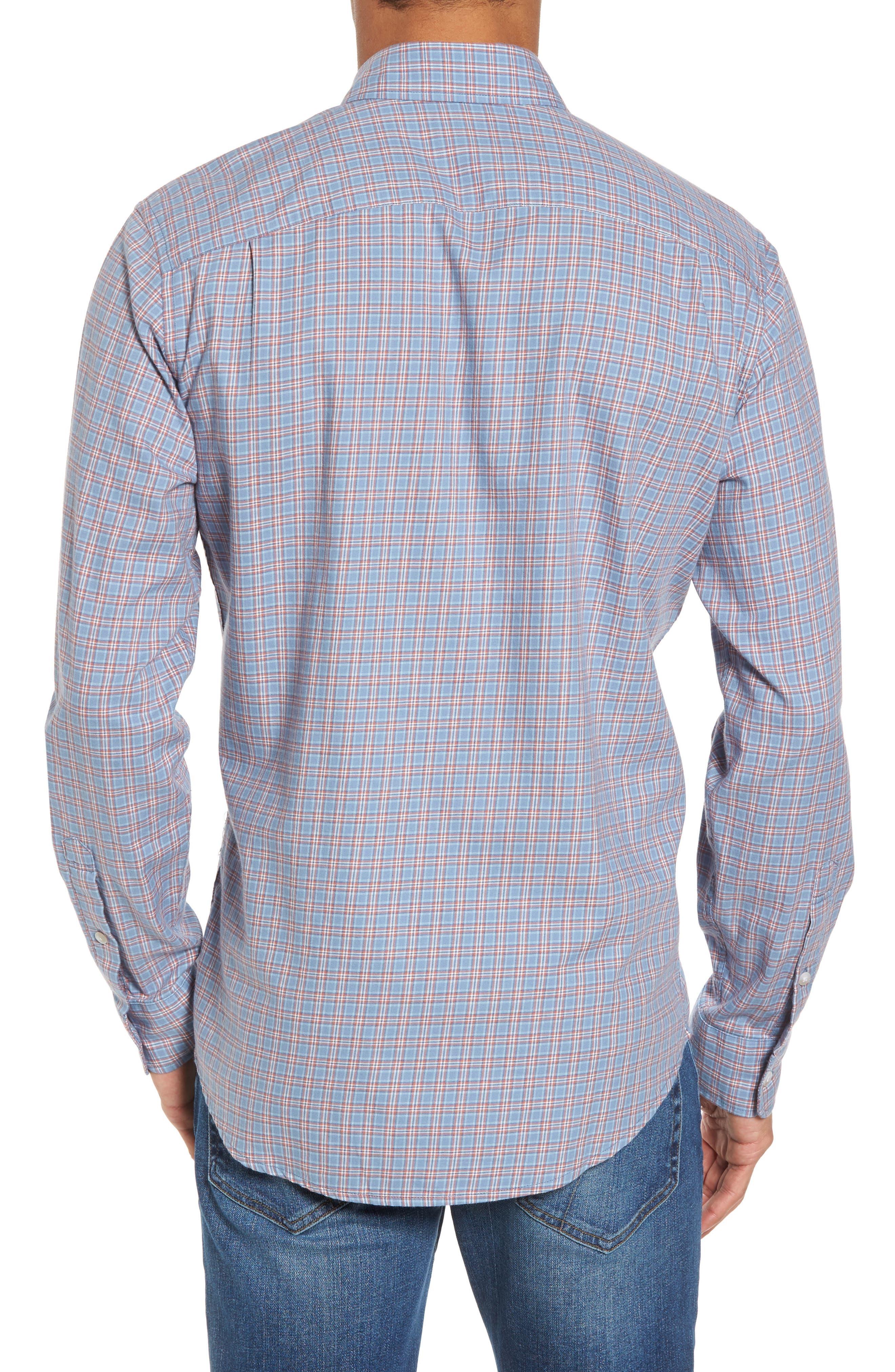 Ventura Plaid Sport Shirt,                             Alternate thumbnail 2, color,                             Light Blue Autumn Check