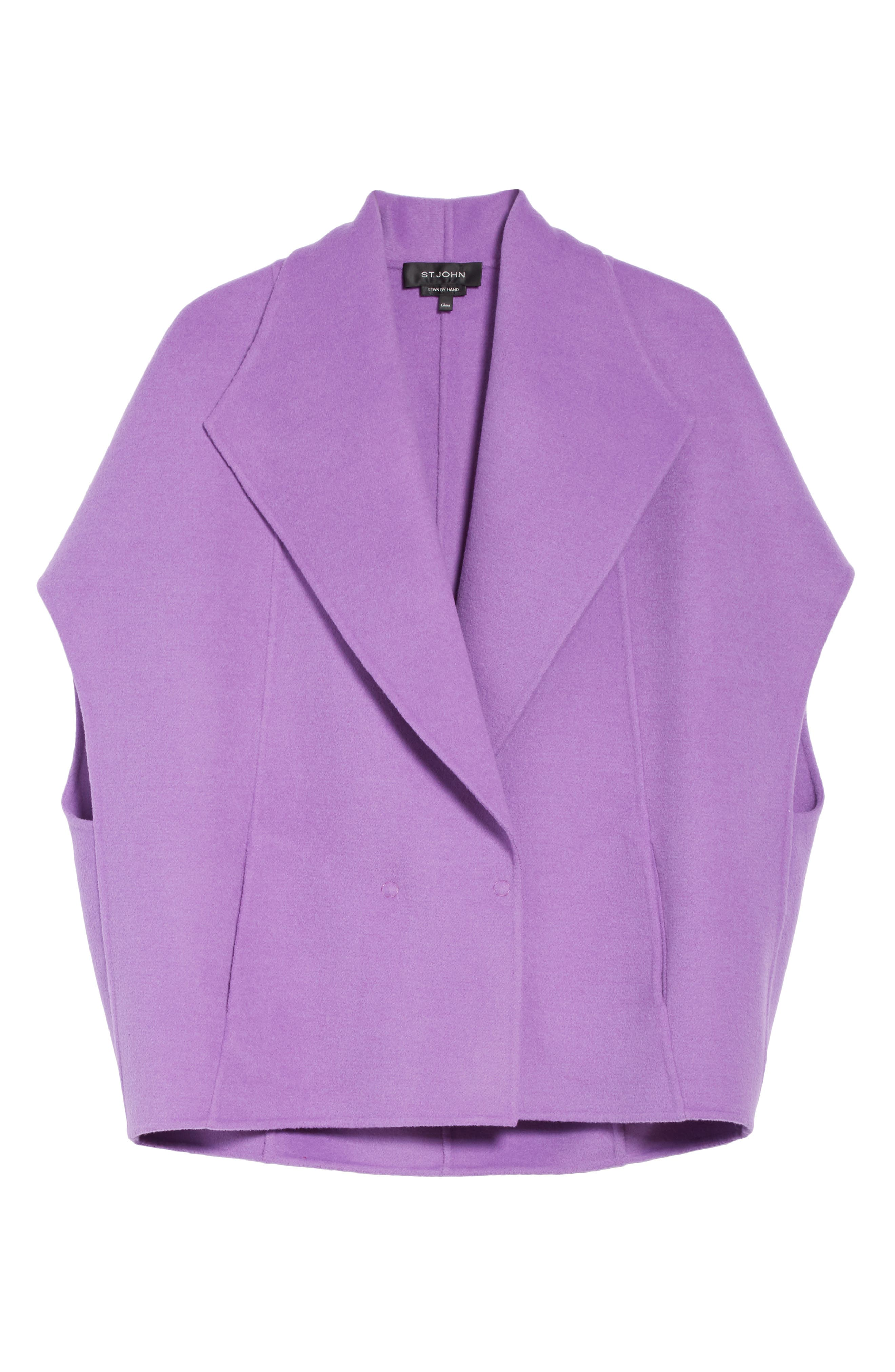 Double Face Wool & Angora Blend Jacket,                             Alternate thumbnail 7, color,                             Dark Orchid