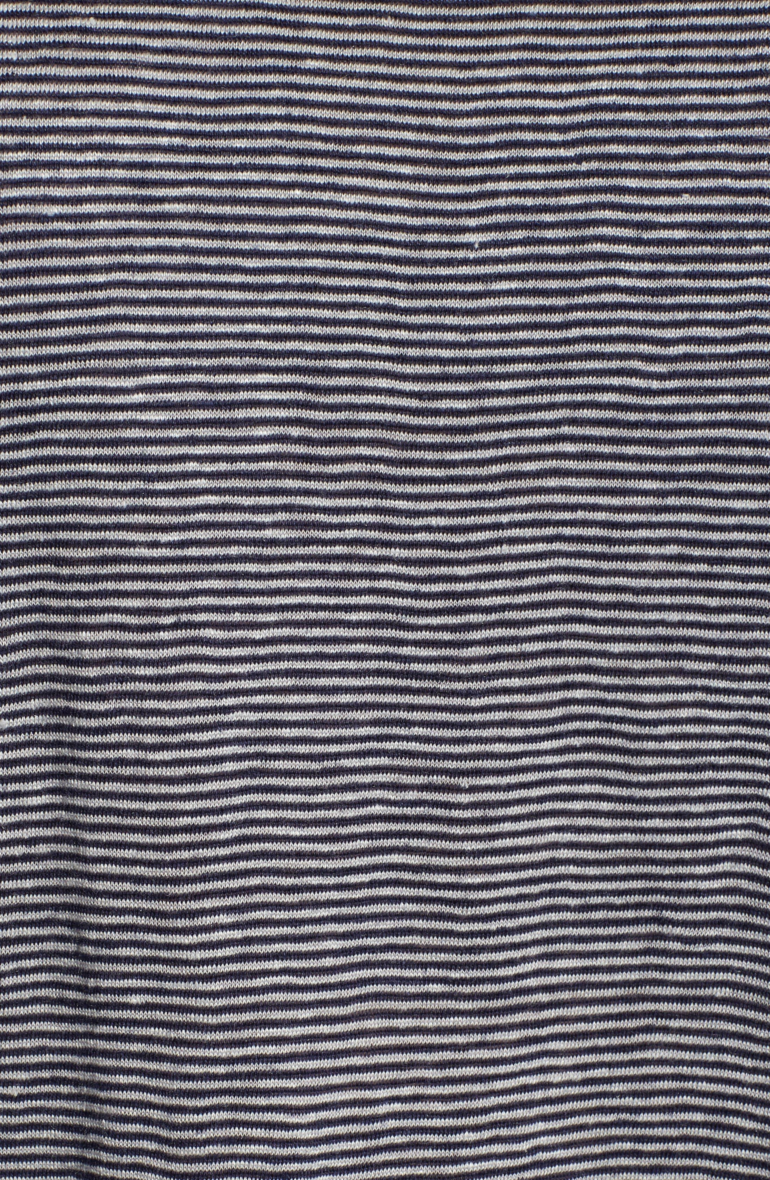 Organic Linen Bateau Neck Top,                             Alternate thumbnail 5, color,                             Midnight