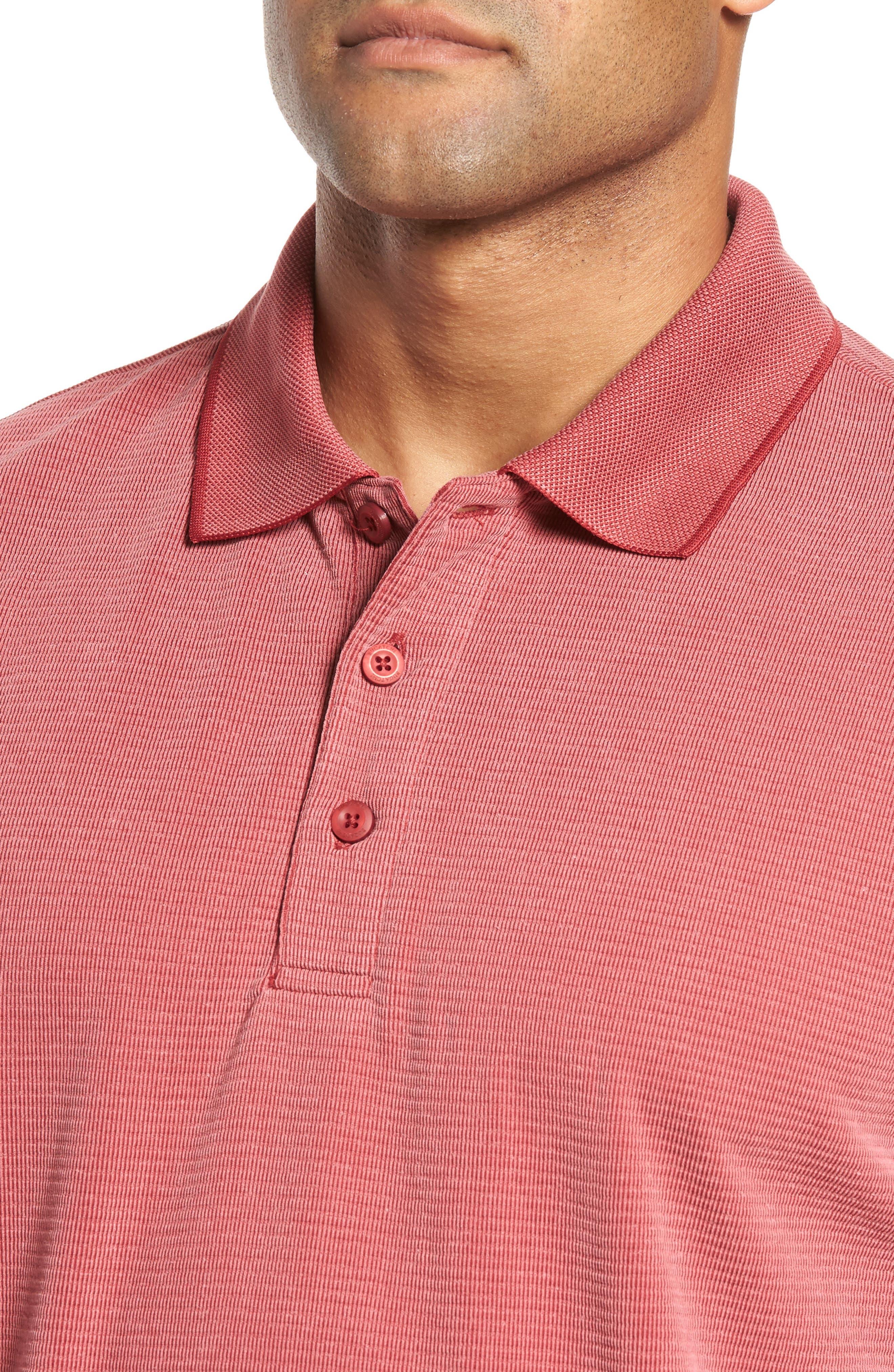 Alternate Image 4  - Bugatchi Short Sleeve Polynosic Polo
