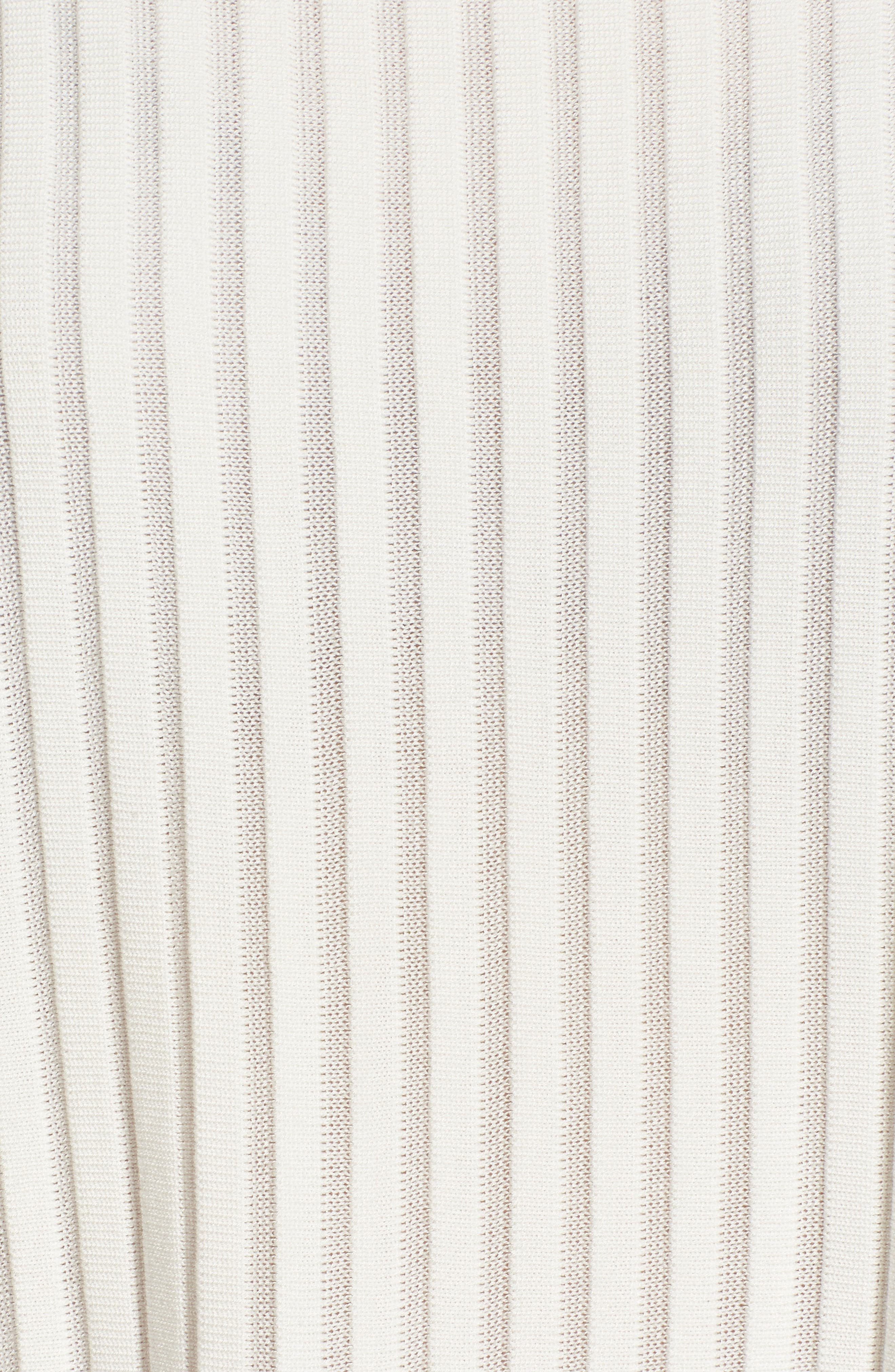 Ribbed Bateau Neck Sweater,                             Alternate thumbnail 5, color,                             Soft White