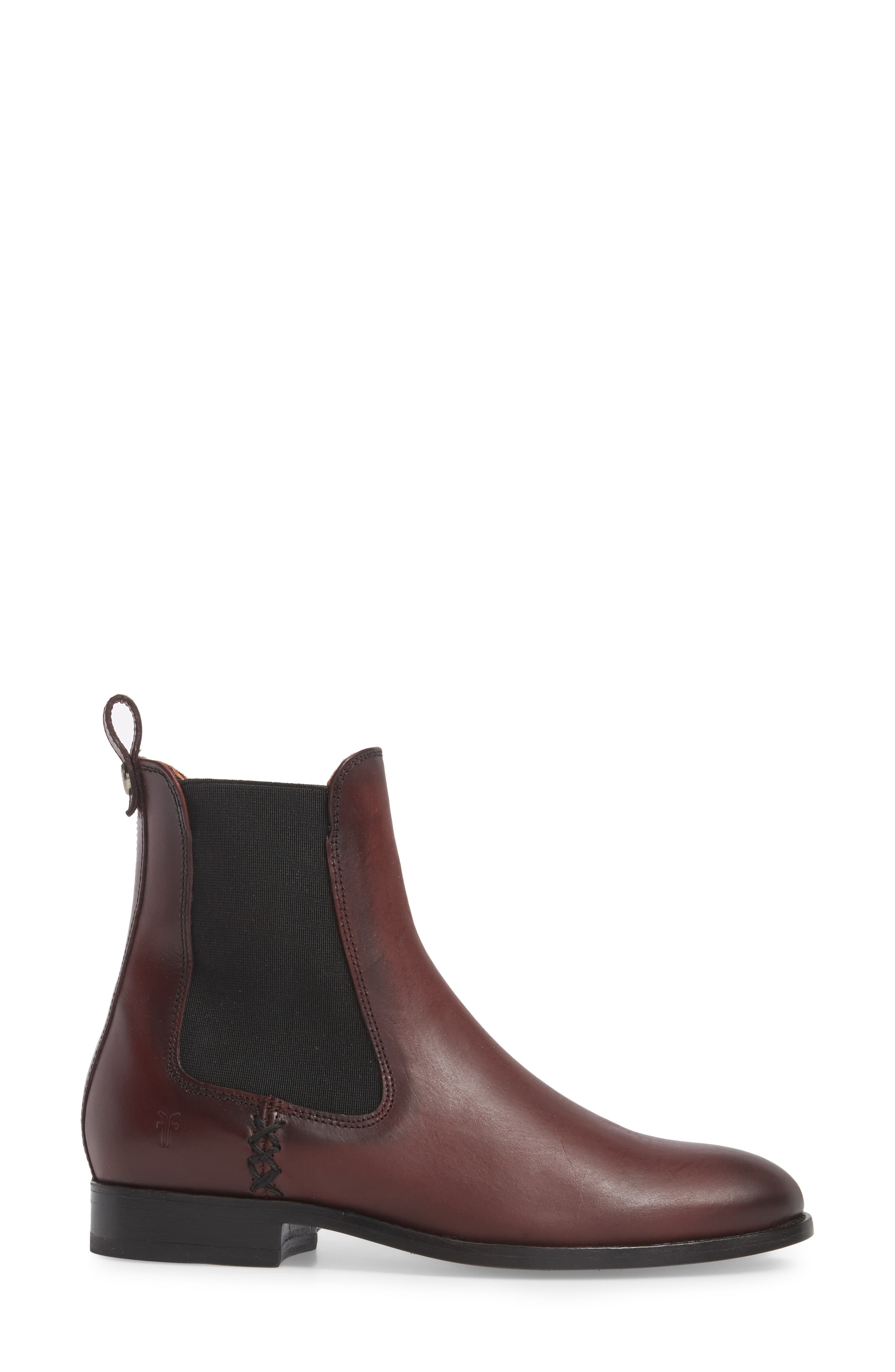 Melissa Chelsea Boot,                             Alternate thumbnail 3, color,                             Wine
