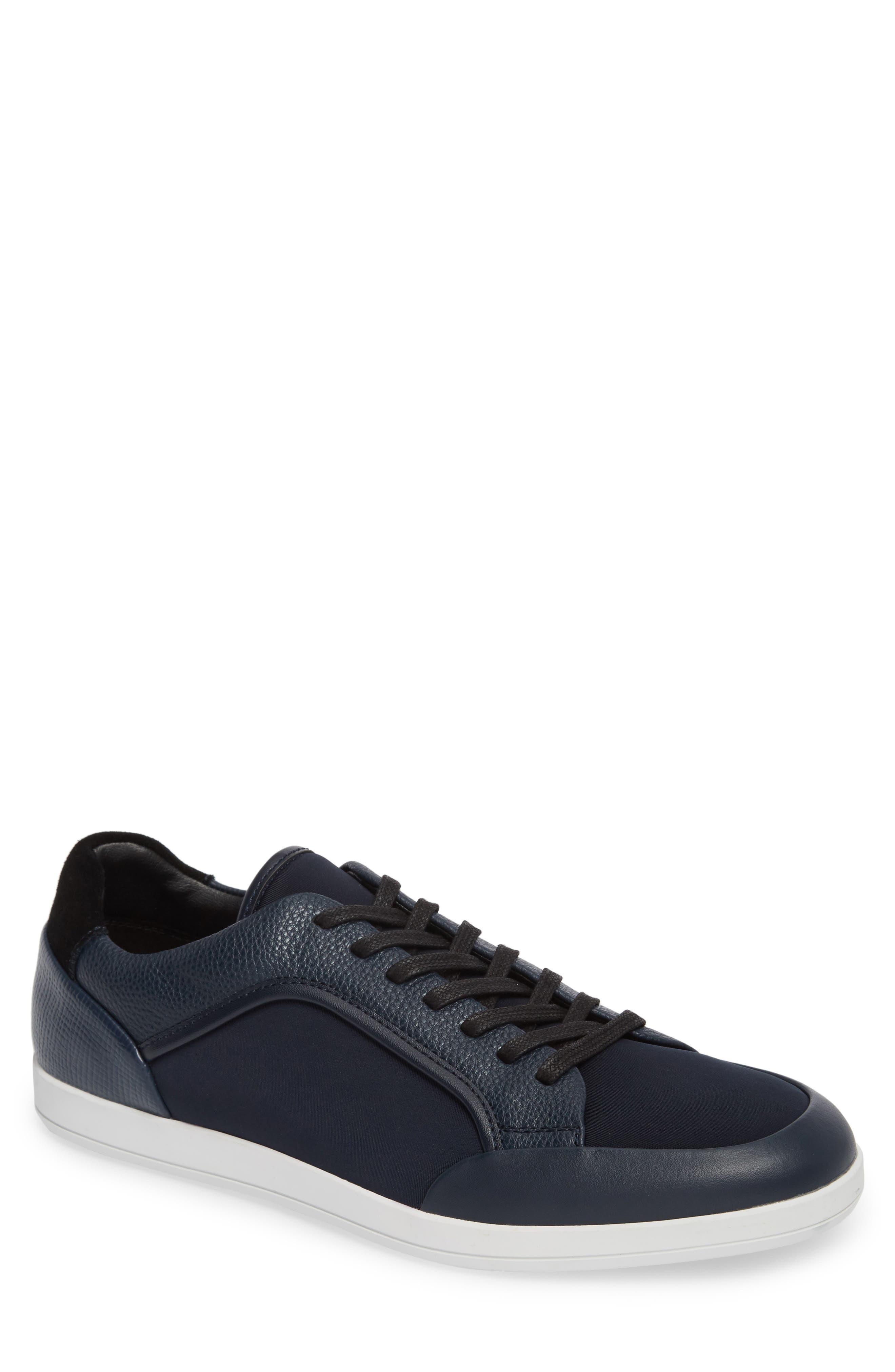 Masen Sneaker,                         Main,                         color, Dark Navy Lyrcra