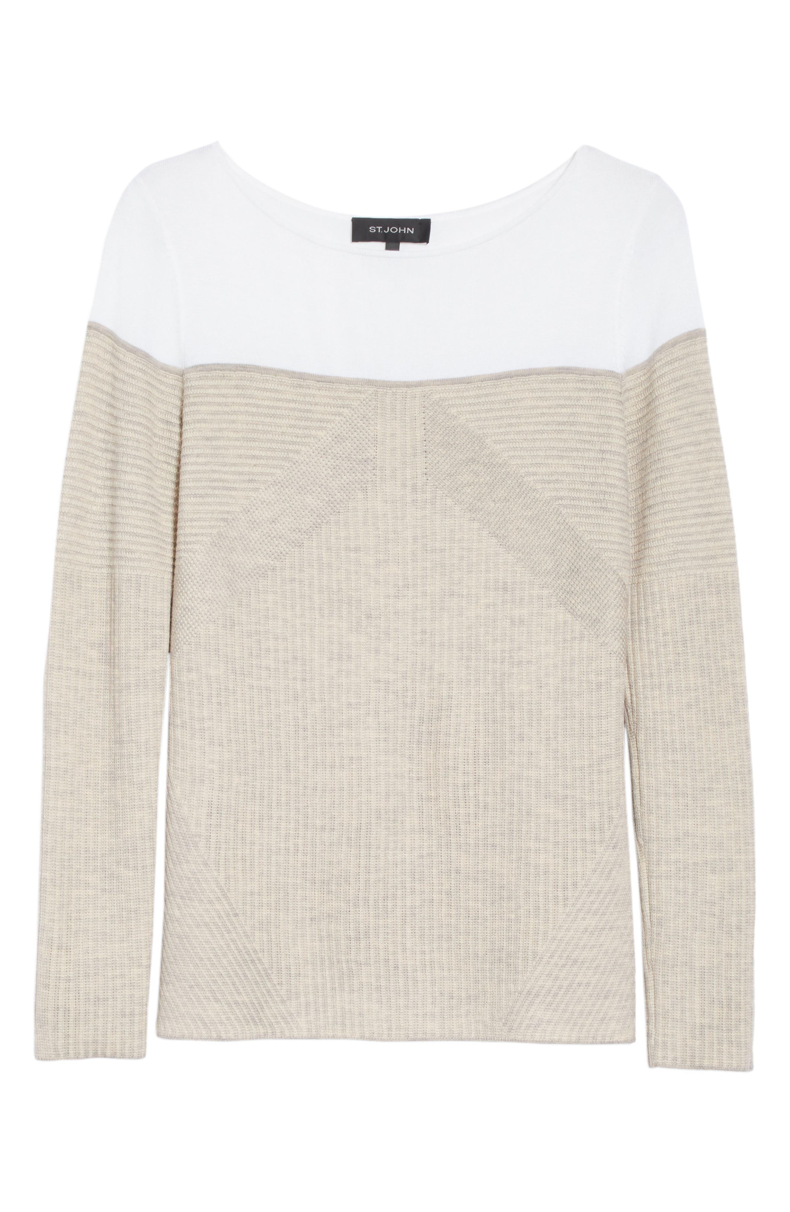 Alternate Image 6  - St. John Collection Tech Rib Knit Sweater