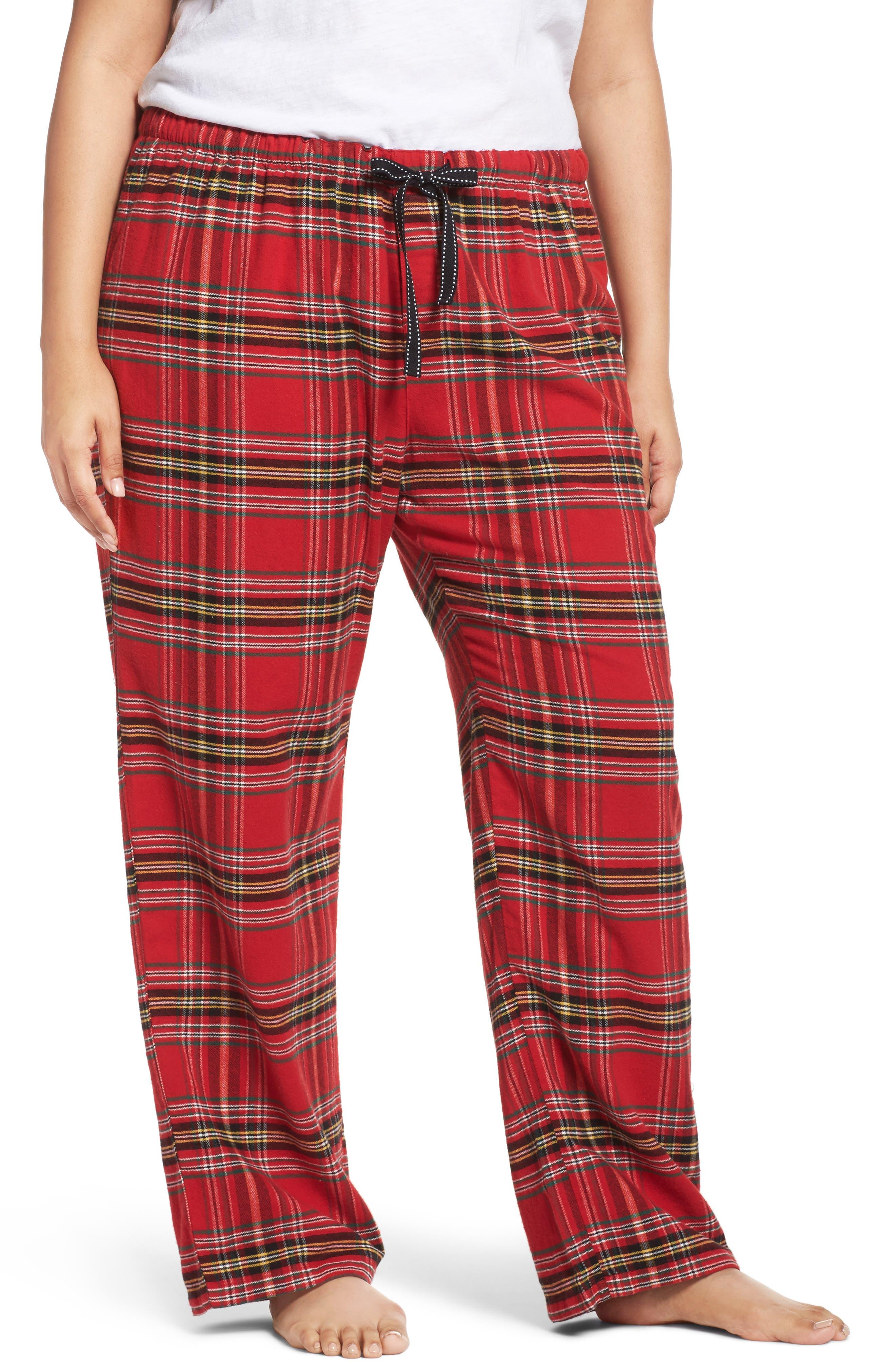 Main Image - PJ Salvage Plaid Flannel Pajama Pants (Plus Size)
