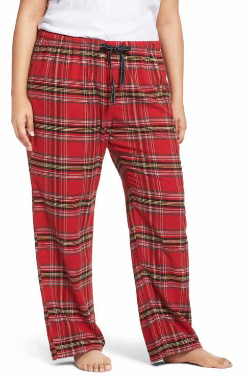 PJ Salvage Plaid Flannel Pajama Pants (Plus Size)