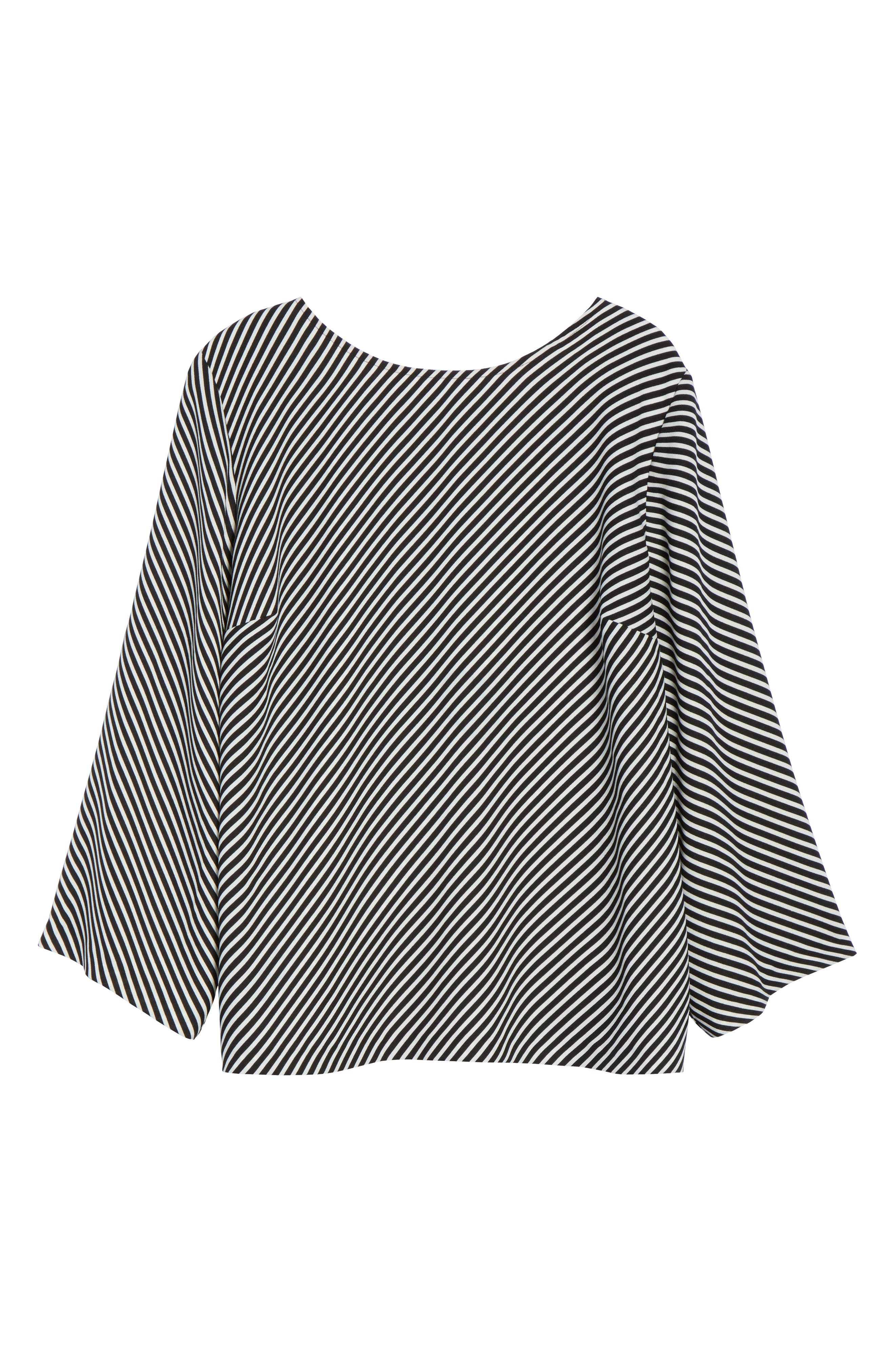 Alternate Image 6  - Vince Camuto Bell Sleeve Diagonal Stripe Blouse (Plus Size)