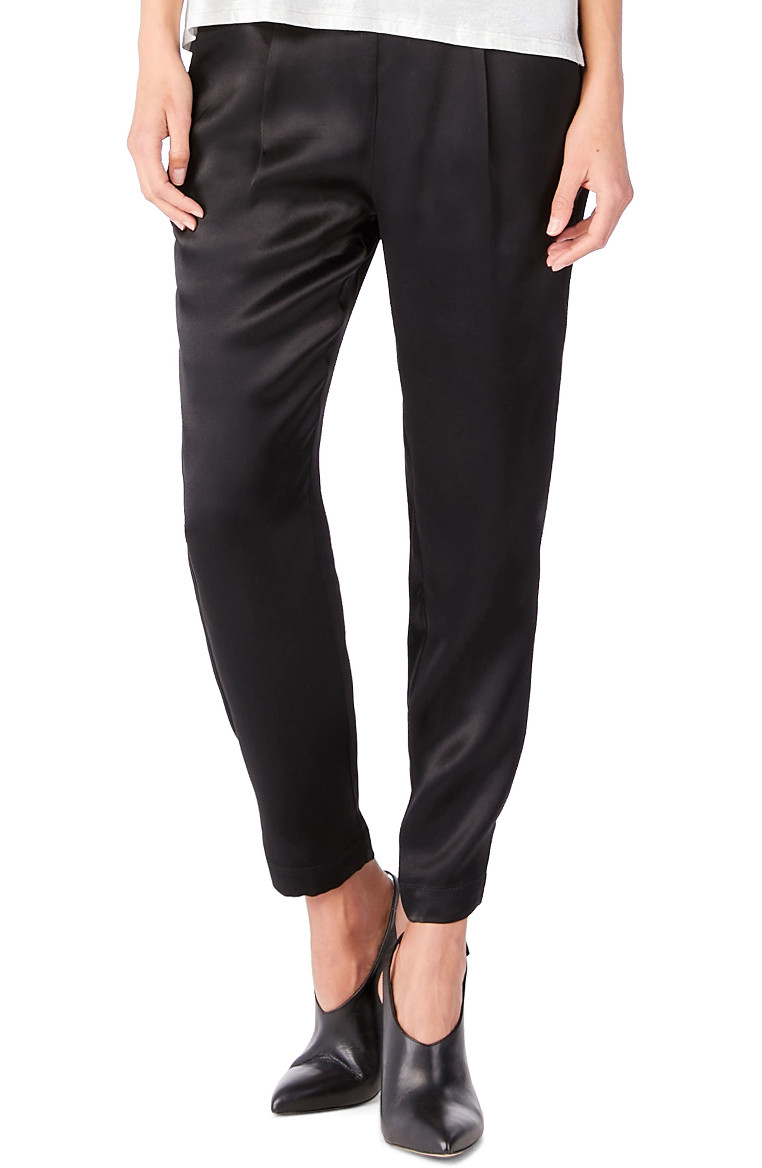 Tab Hem Ankle Pants,                         Main,                         color, Black