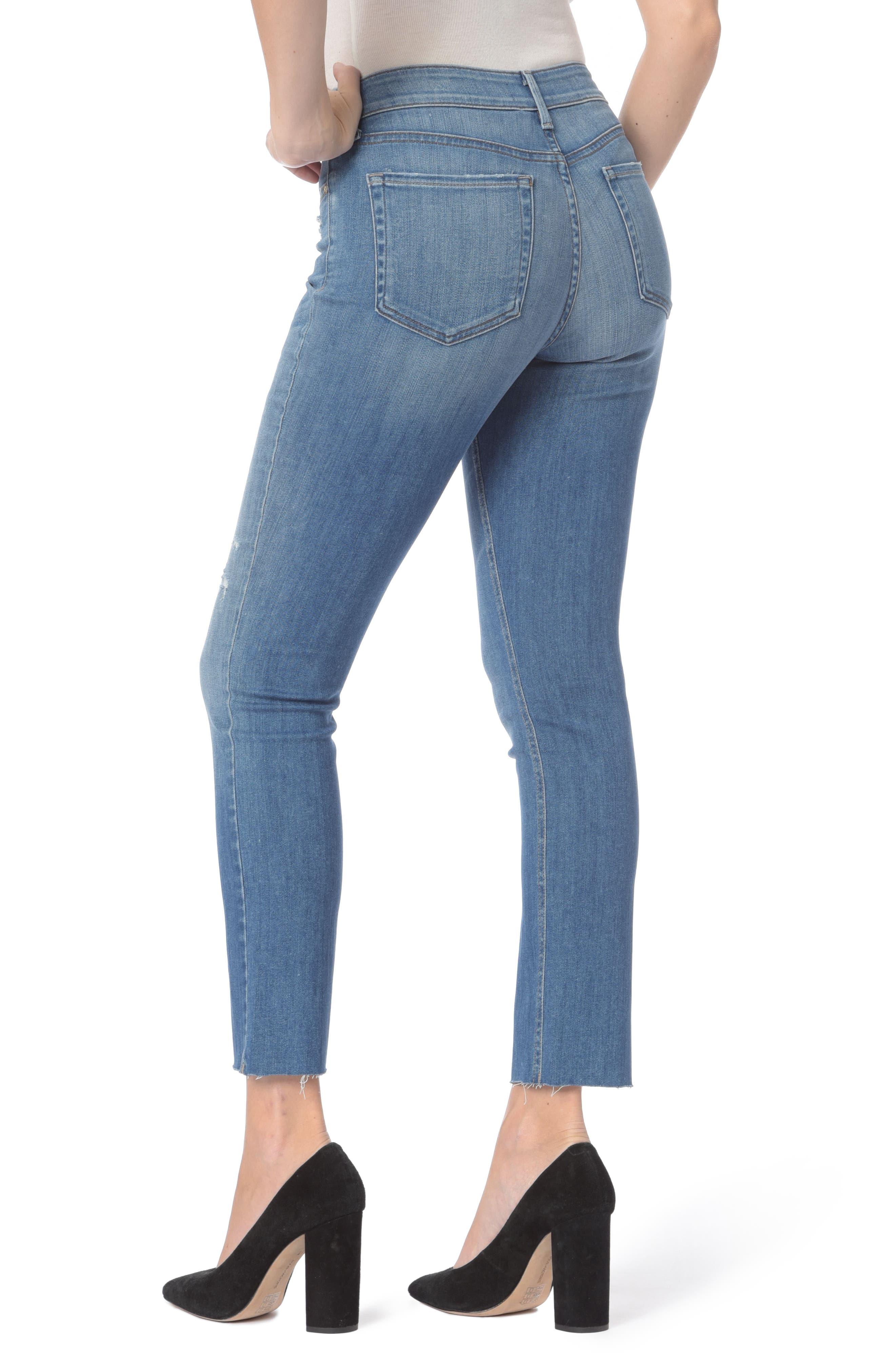 Alternate Image 2  - NYDJ Sheri Ripped Slim Stretch Ankle Jeans (Burton)