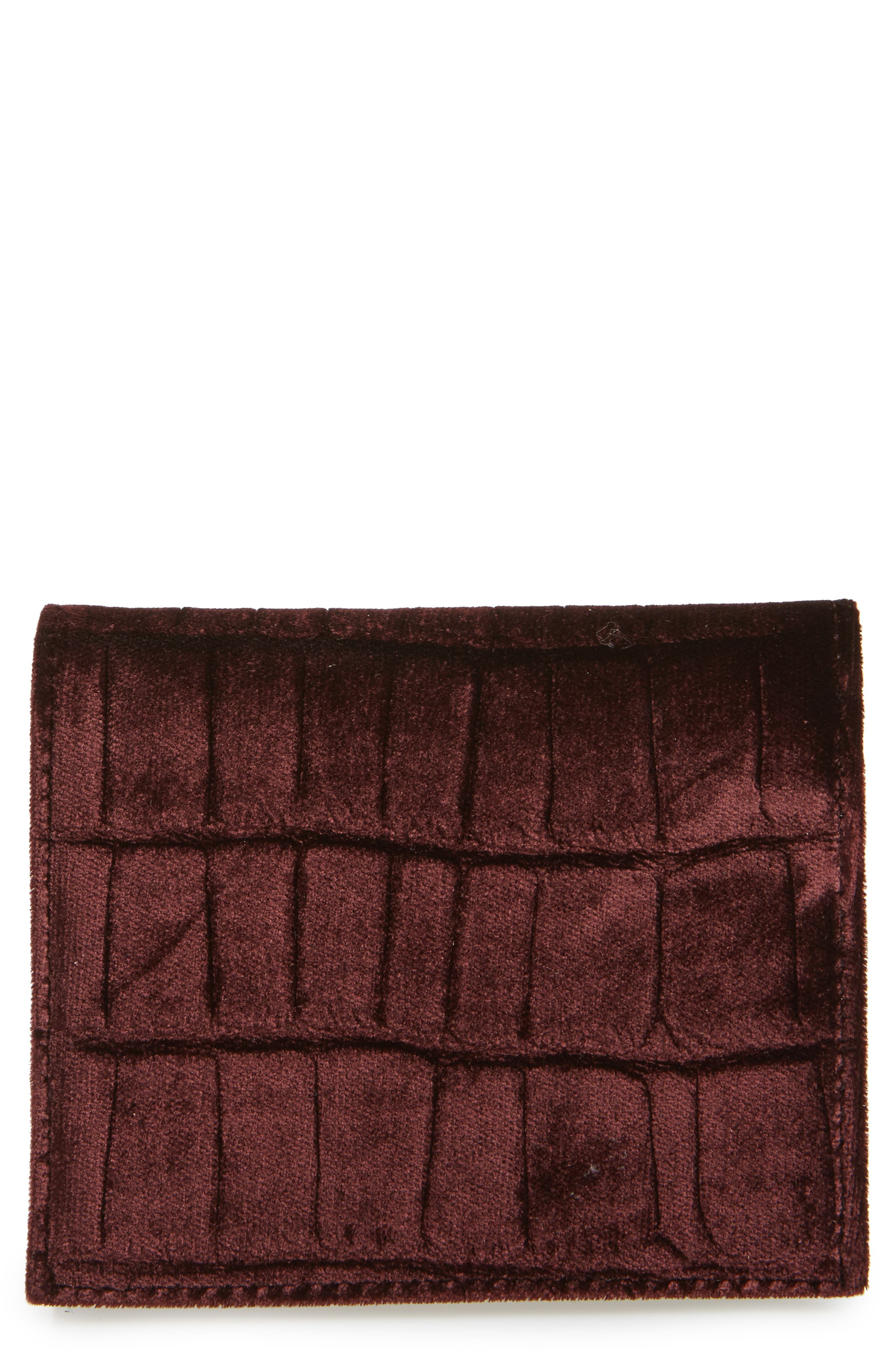 Main Image - ALLSAINTS Small Keel Croc Embossed Velvet Wallet